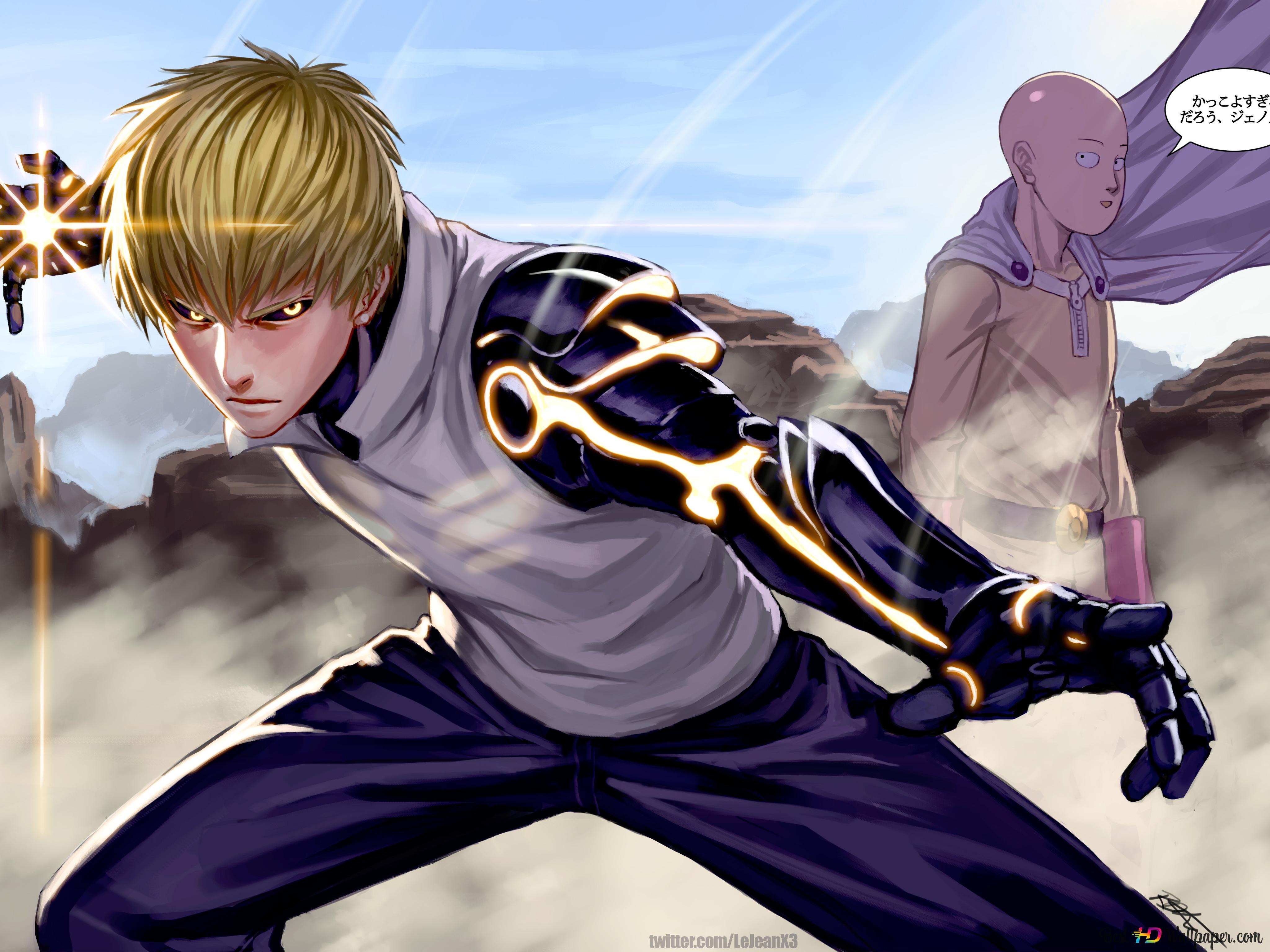 One Punch Man Demon Cyborg Genos Hero Hd Wallpaper Download