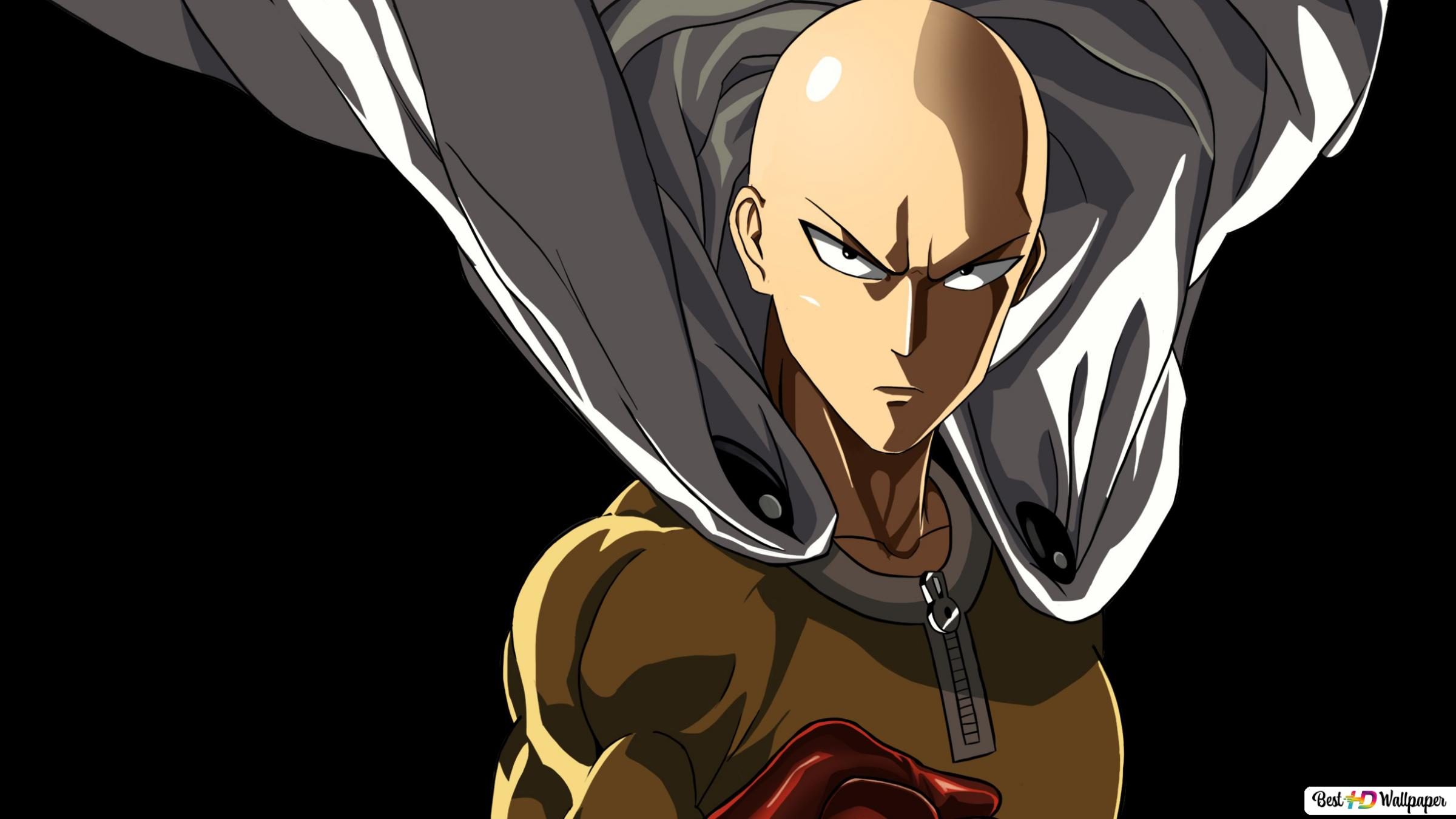 One Punch Man Saitama Punch Caped Baldy Hd Wallpaper Download