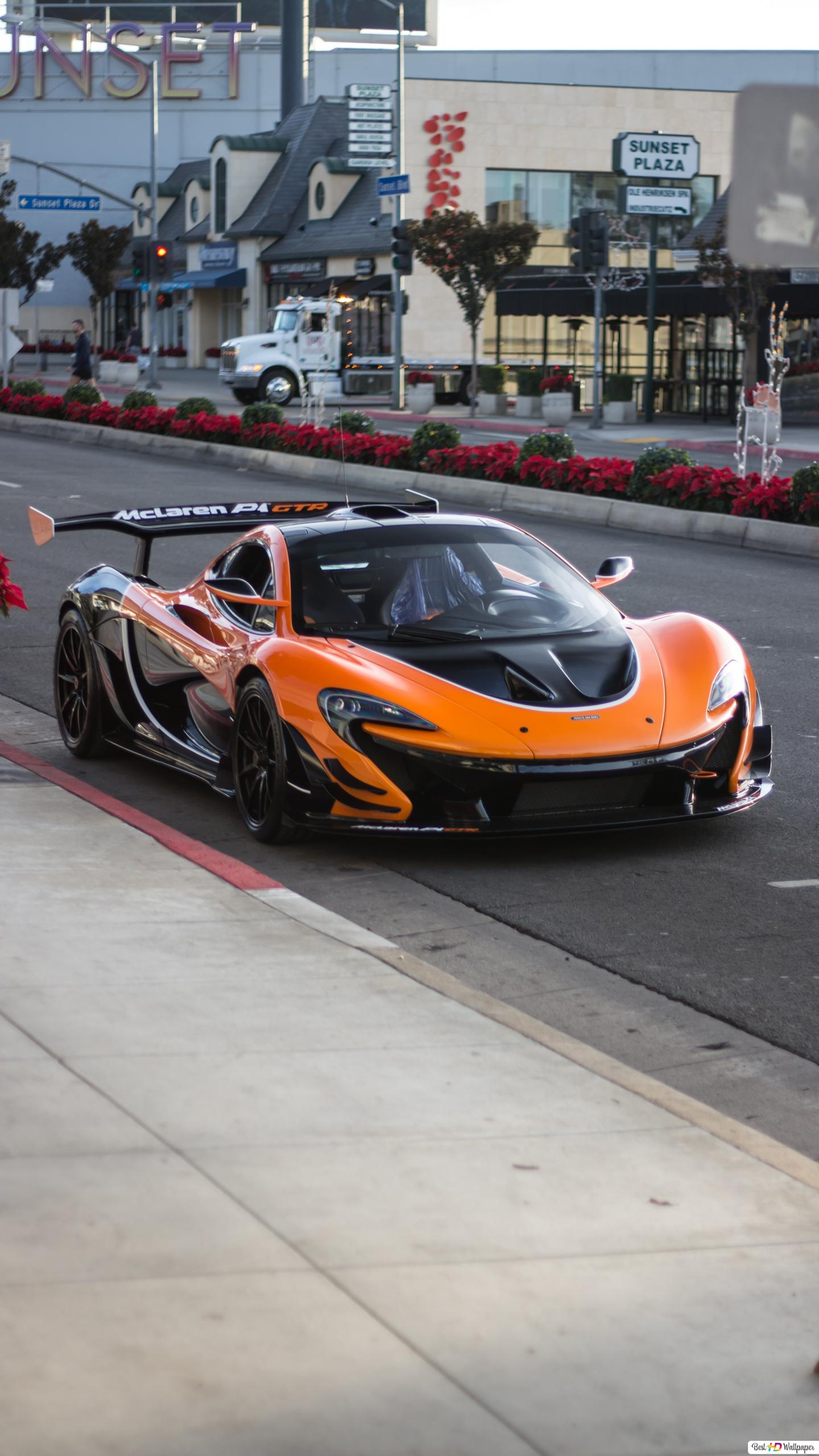 orange and black mclaren p1 gtr super car wallpaper 1440x2560 26036 181