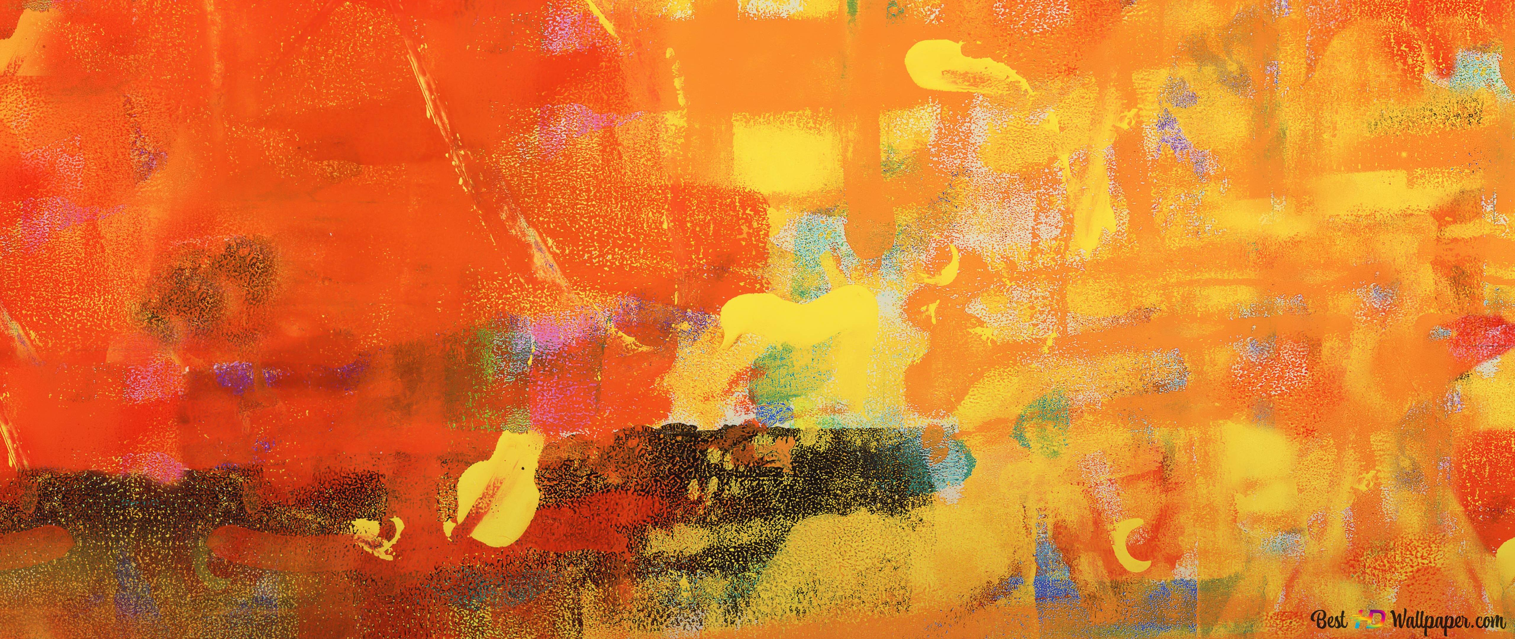 Orange Oil Paint HD Wallpaper Download