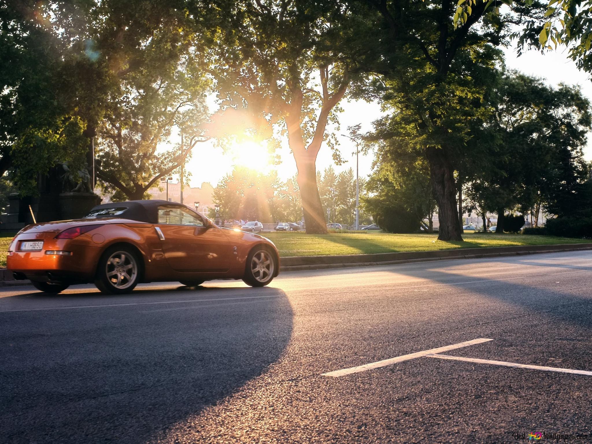 Orange Sports Car Hd Wallpaper Download