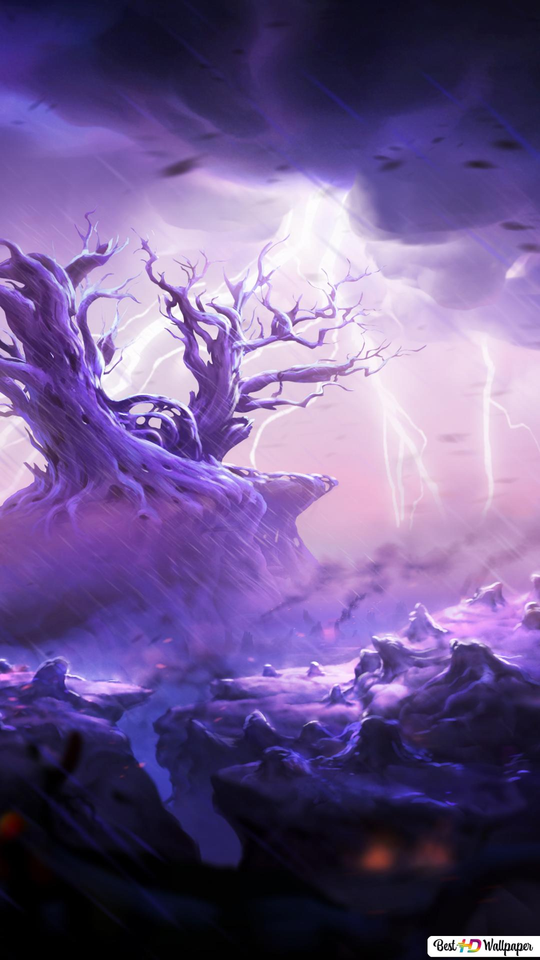 Ori And The Will Of The Wisps Thunder Rain Hd Wallpaper Download