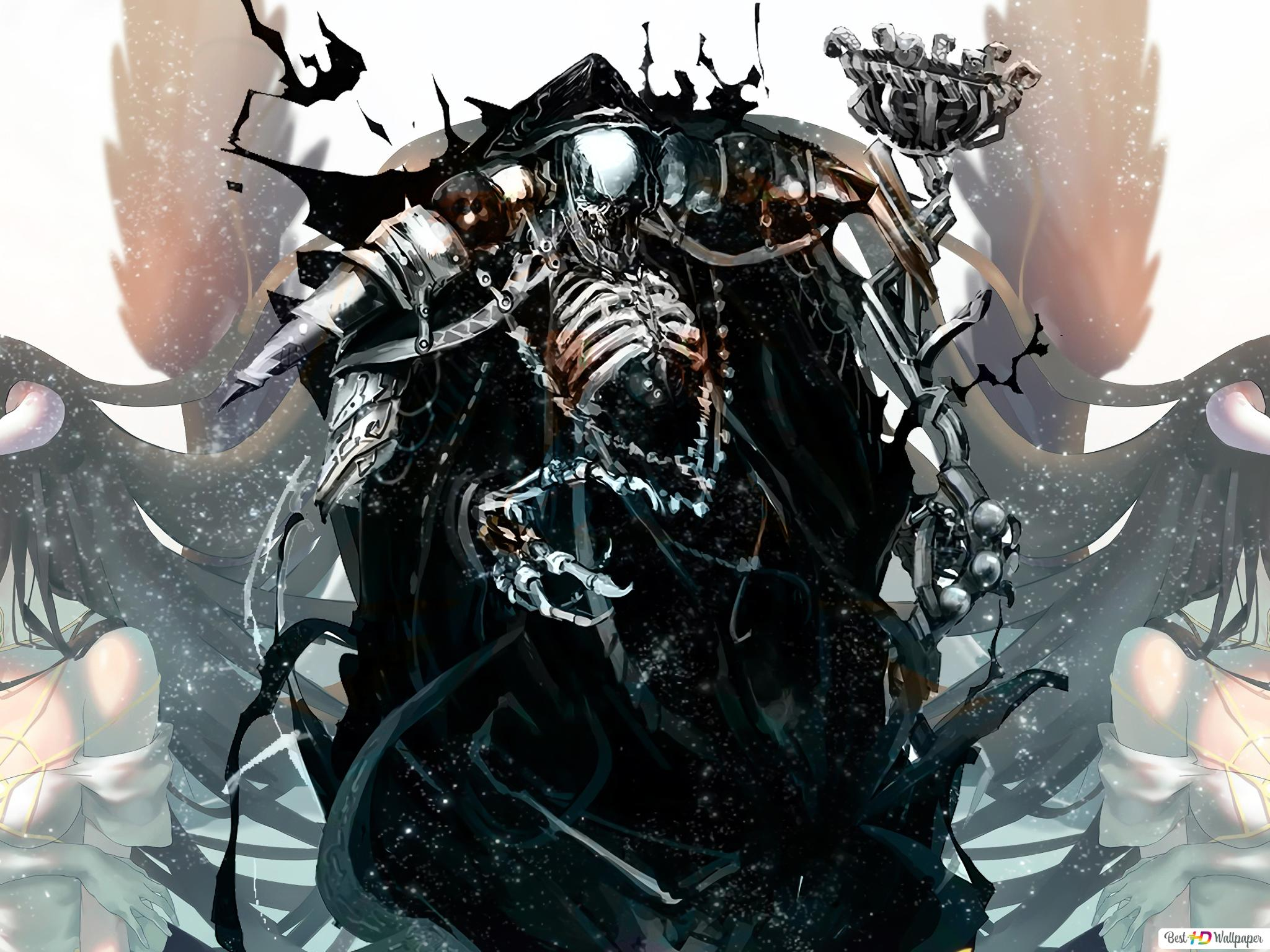Overlord Albedo Ainz Ooal Gown Unduhan Wallpaper Hd