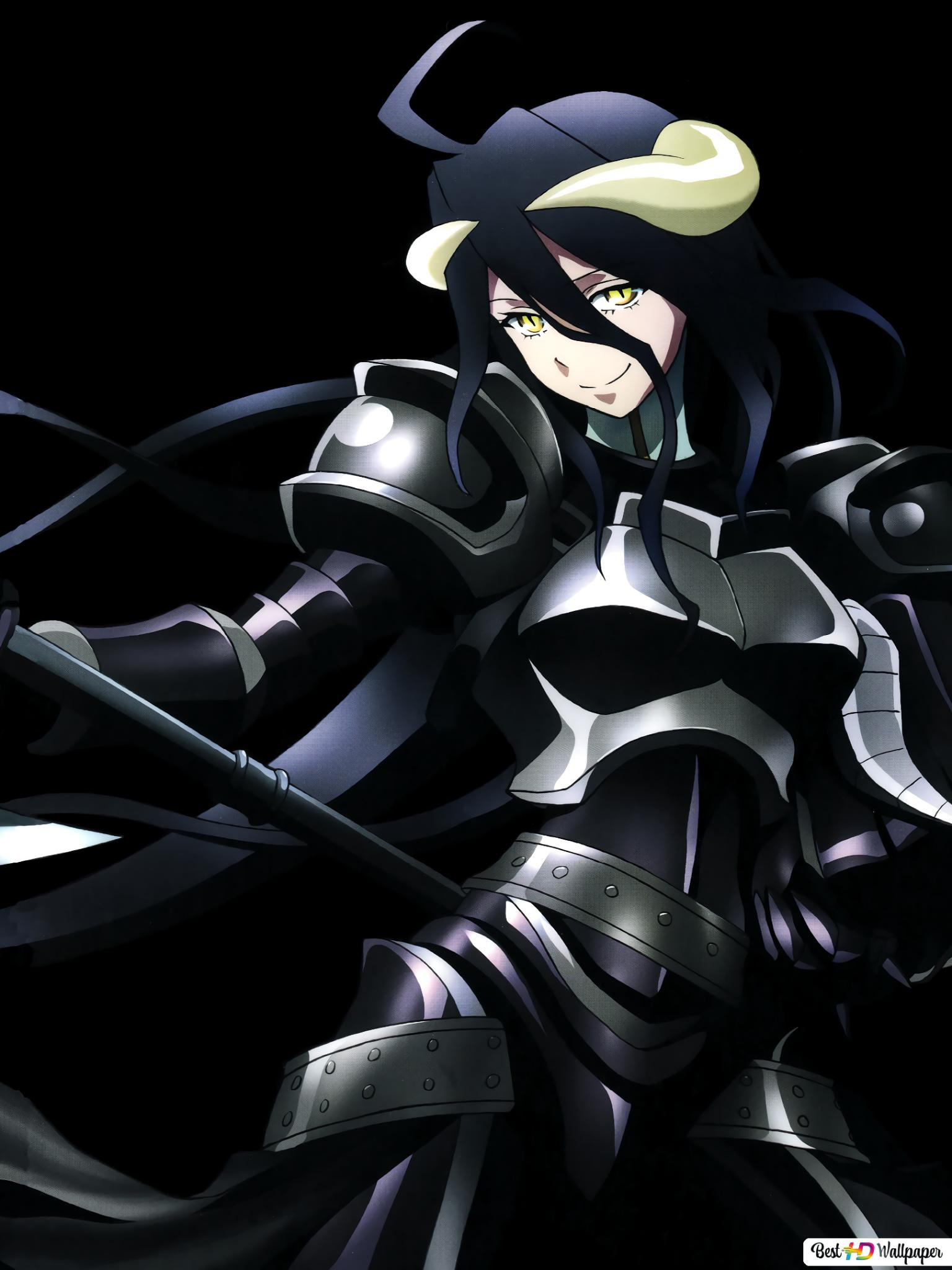 Overlord Albedo Dark Hd Wallpaper Download
