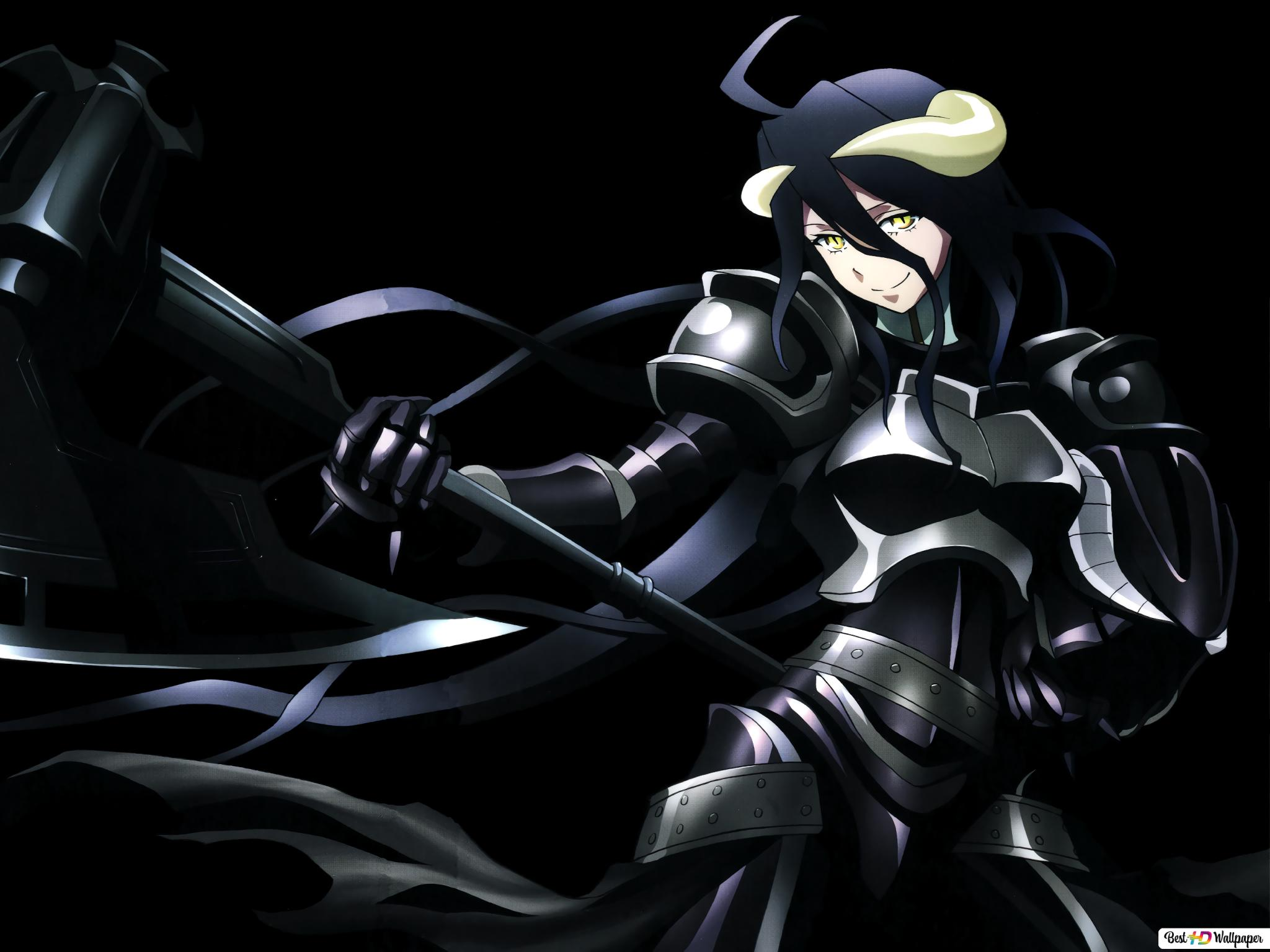 Overlord Albedo Dark Hd Wallpaper Download
