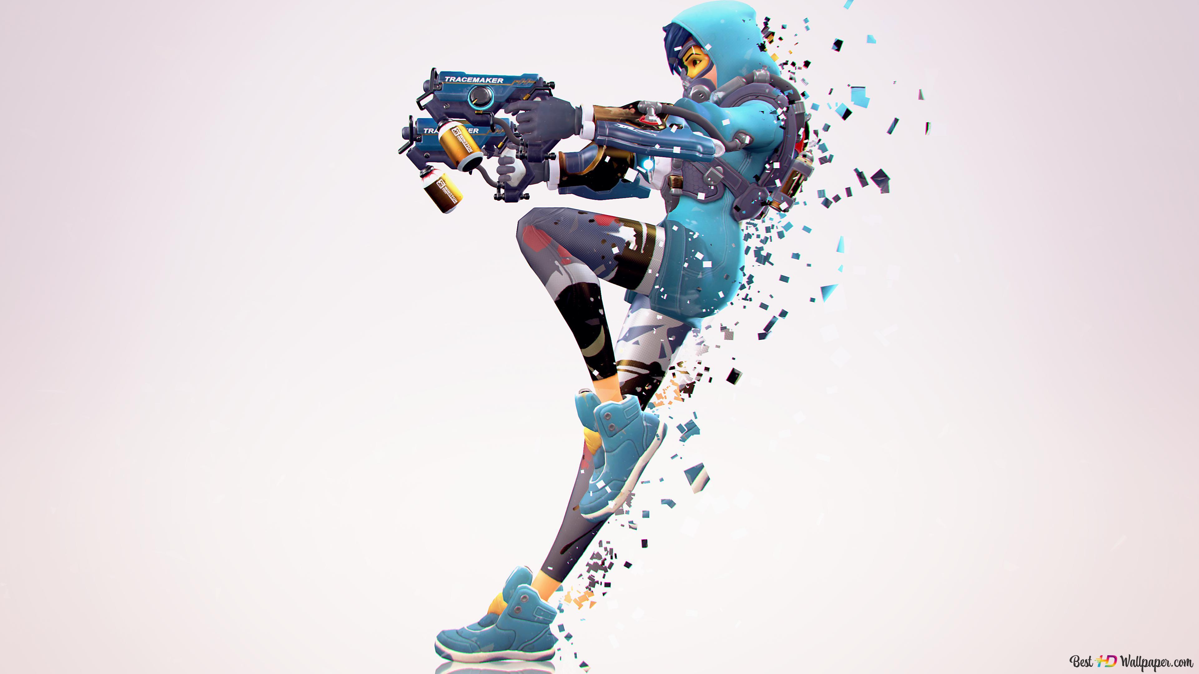new Overwatch Anniversary by skins Tracer Graffiti Hoodies cosplay costume#21