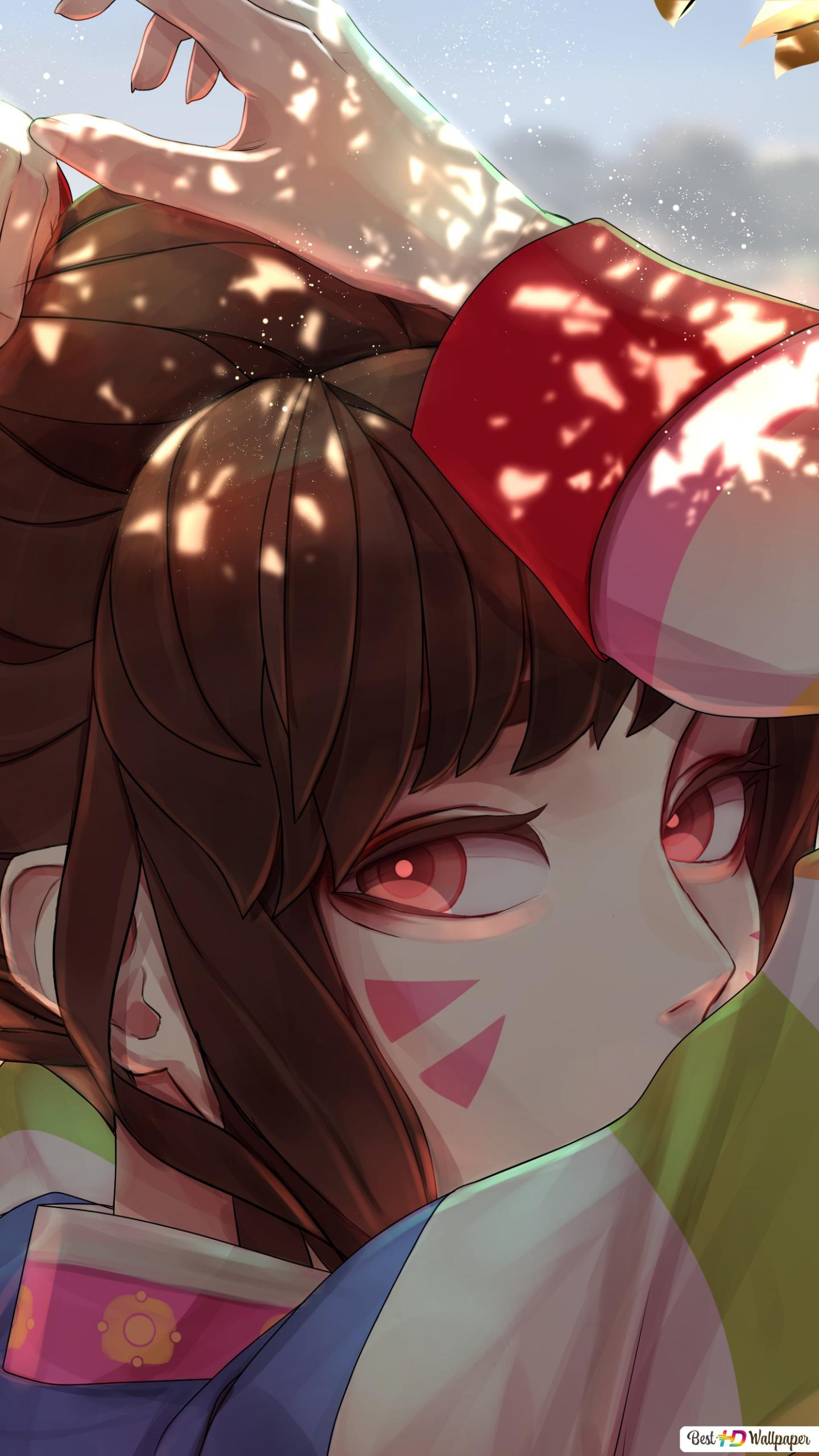 Overwatch (Kawaii Anime Girl - D.Va) HD wallpaper download