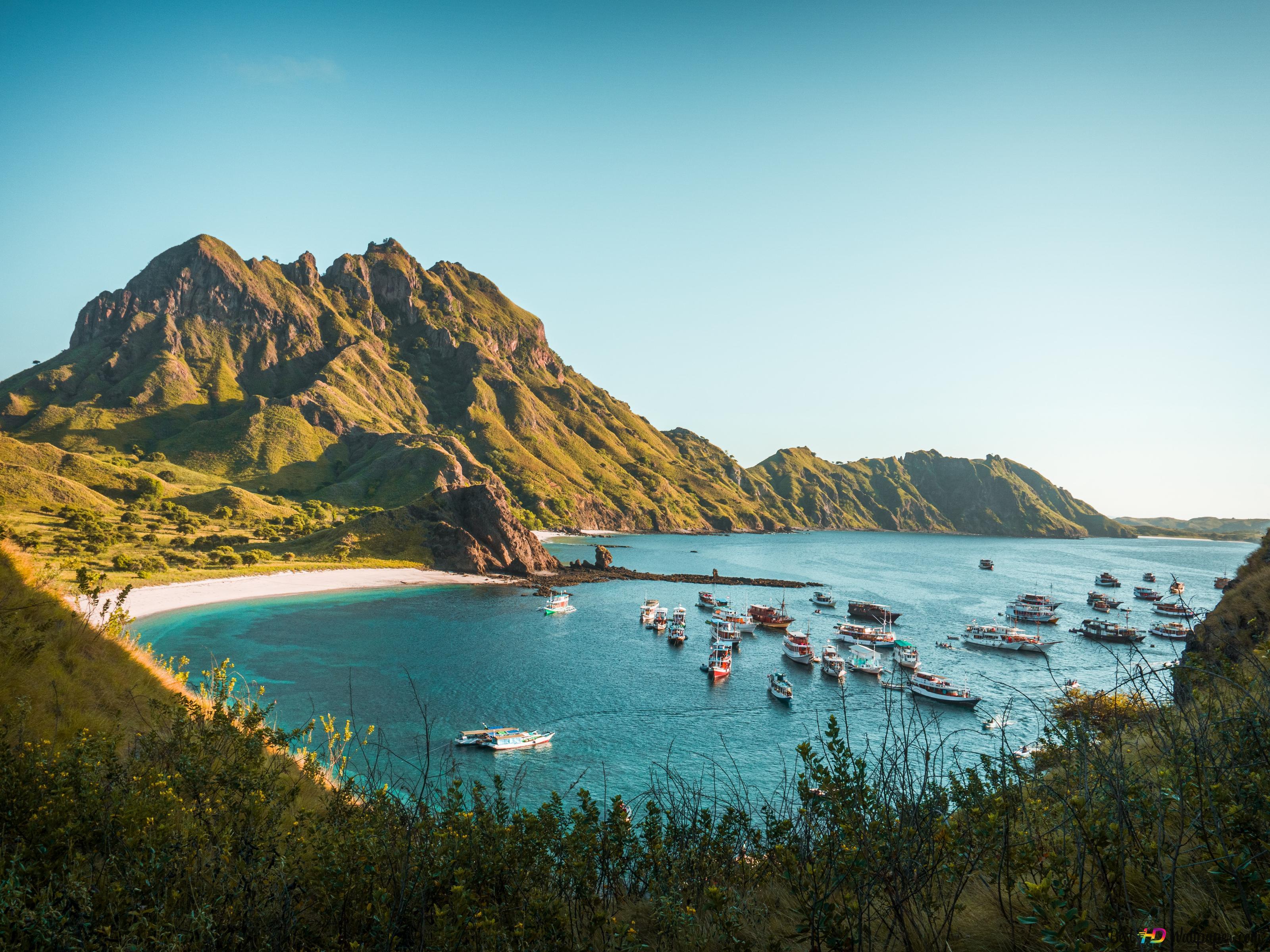 Padar島インドネシアrizknas 4k Hd壁紙のダウンロード