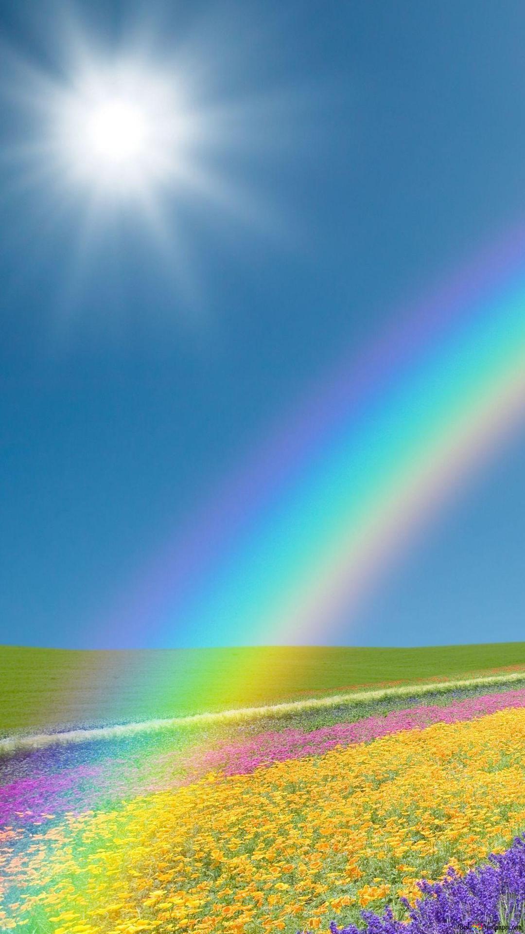 Paesaggio Con Arcobaleno Download Di Sfondi Hd