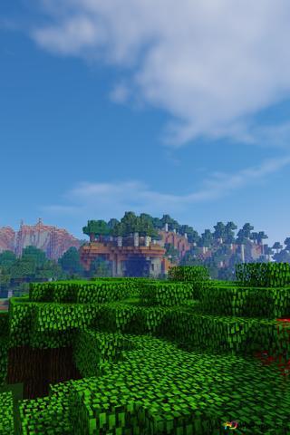 Paesaggio Minecraft Download Di Sfondi Hd