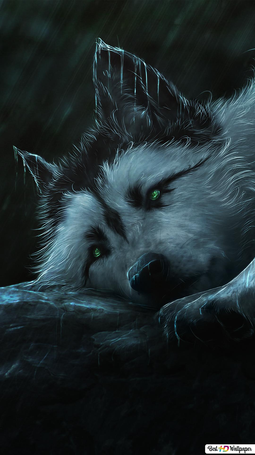 Painting Of A Wolf Hd Wallpaper Download