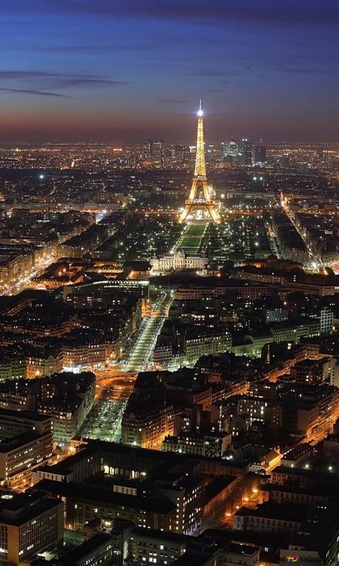 Paris Nights Hd Wallpaper Download