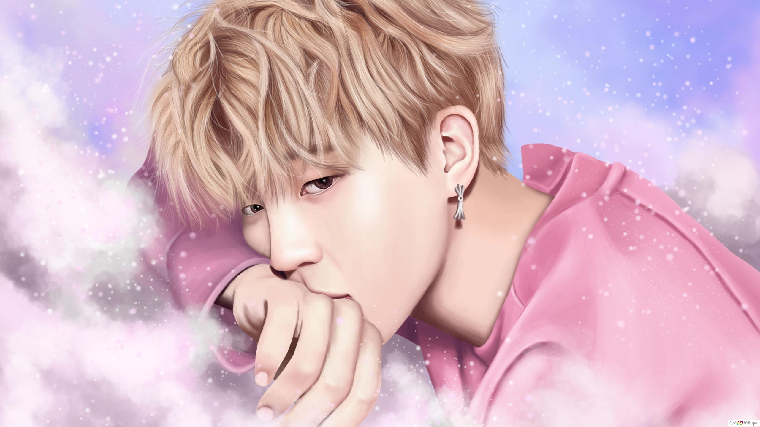 park ji min fanart from bts k pop band wallpaper 2560x1440 52221 51