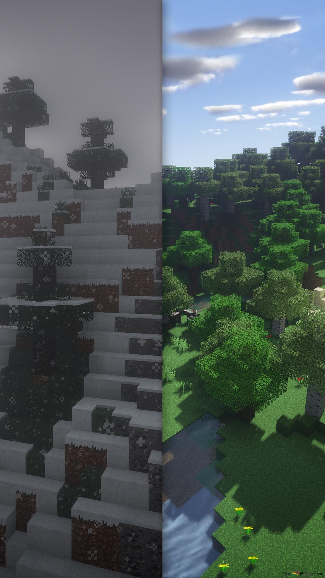 Paysage Minecraft Hd Fond Décran Télécharger