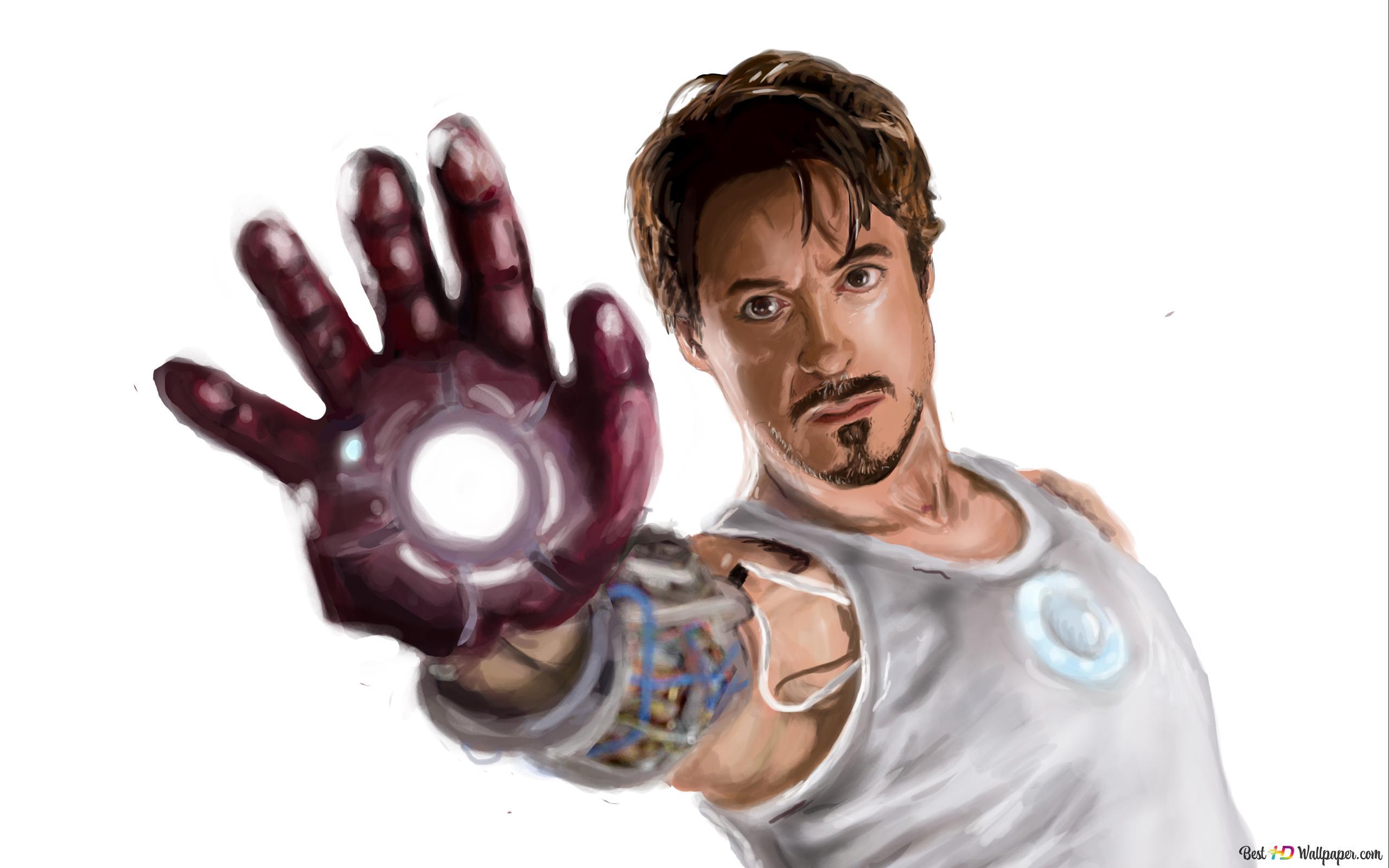 Descargar Fondo De Pantalla Película Iron Man Pintura De