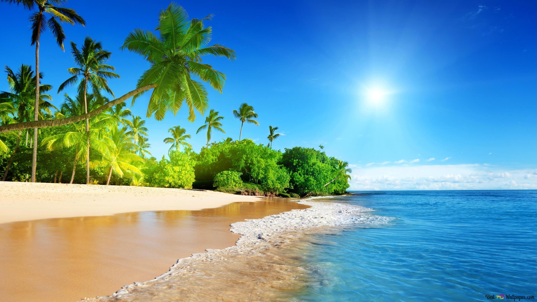 Pemandangan Pantai Berwarna Warni Unduhan Wallpaper Hd