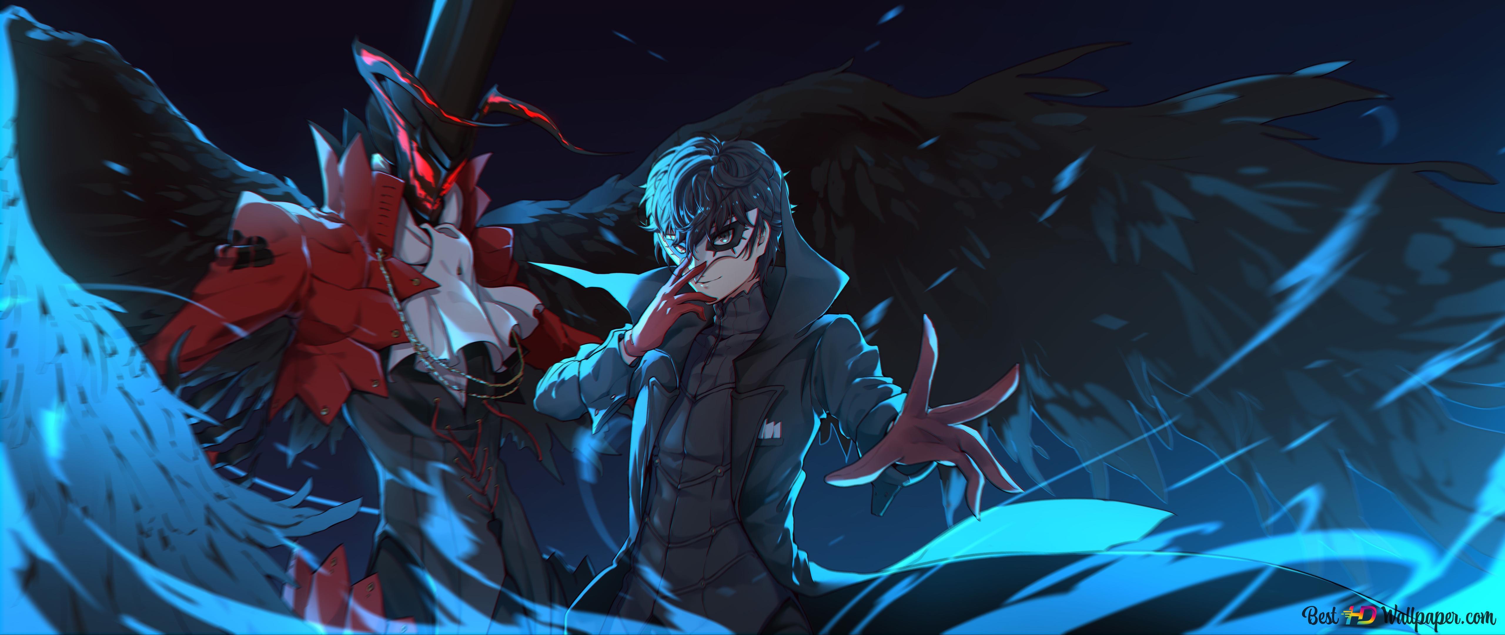 Persona 5 The Animation Ren Amamiya Akira Kurusu Hd Wallpaper Download