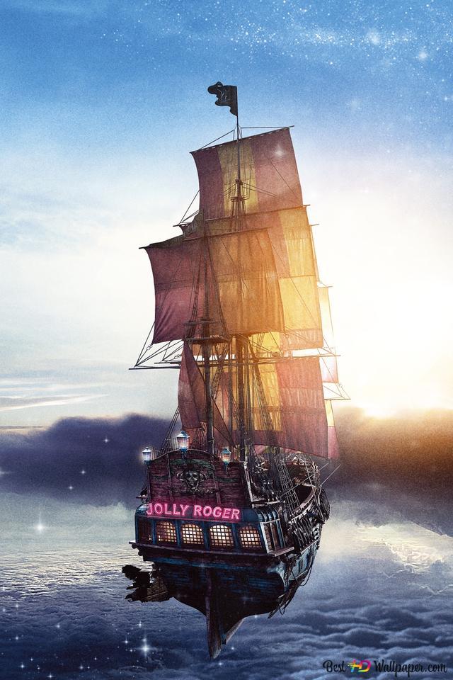 Peter Pan Film Jolly Roger Pirate Ship Hd Fond D Ecran Telecharger