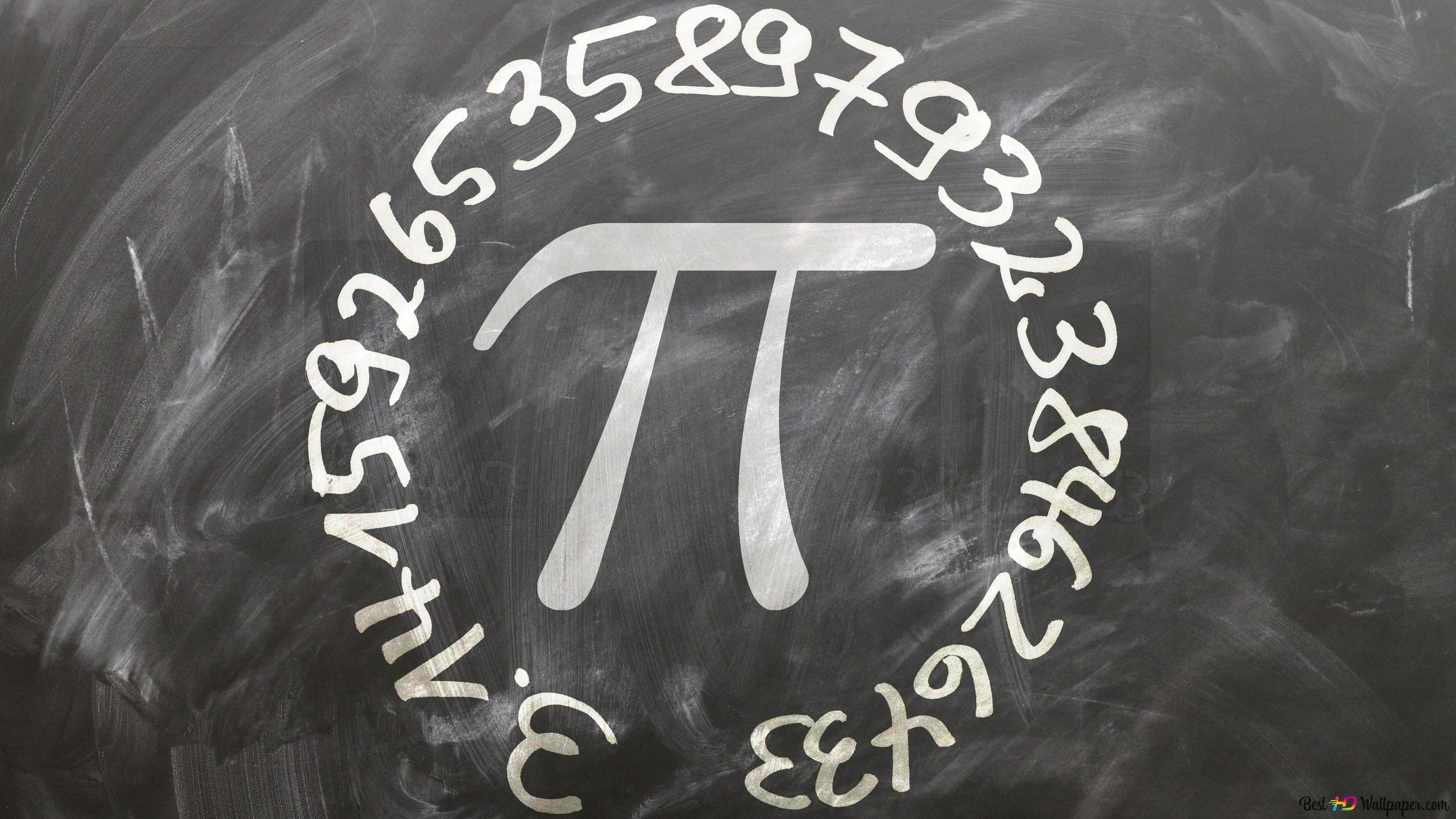 pi number background on chalkboard HD wallpaper download