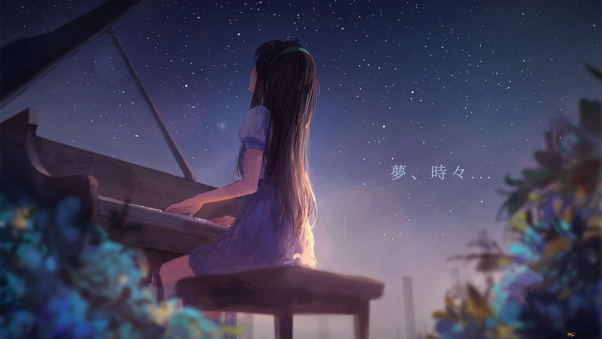 Piano And Girl Hd Wallpaper Download