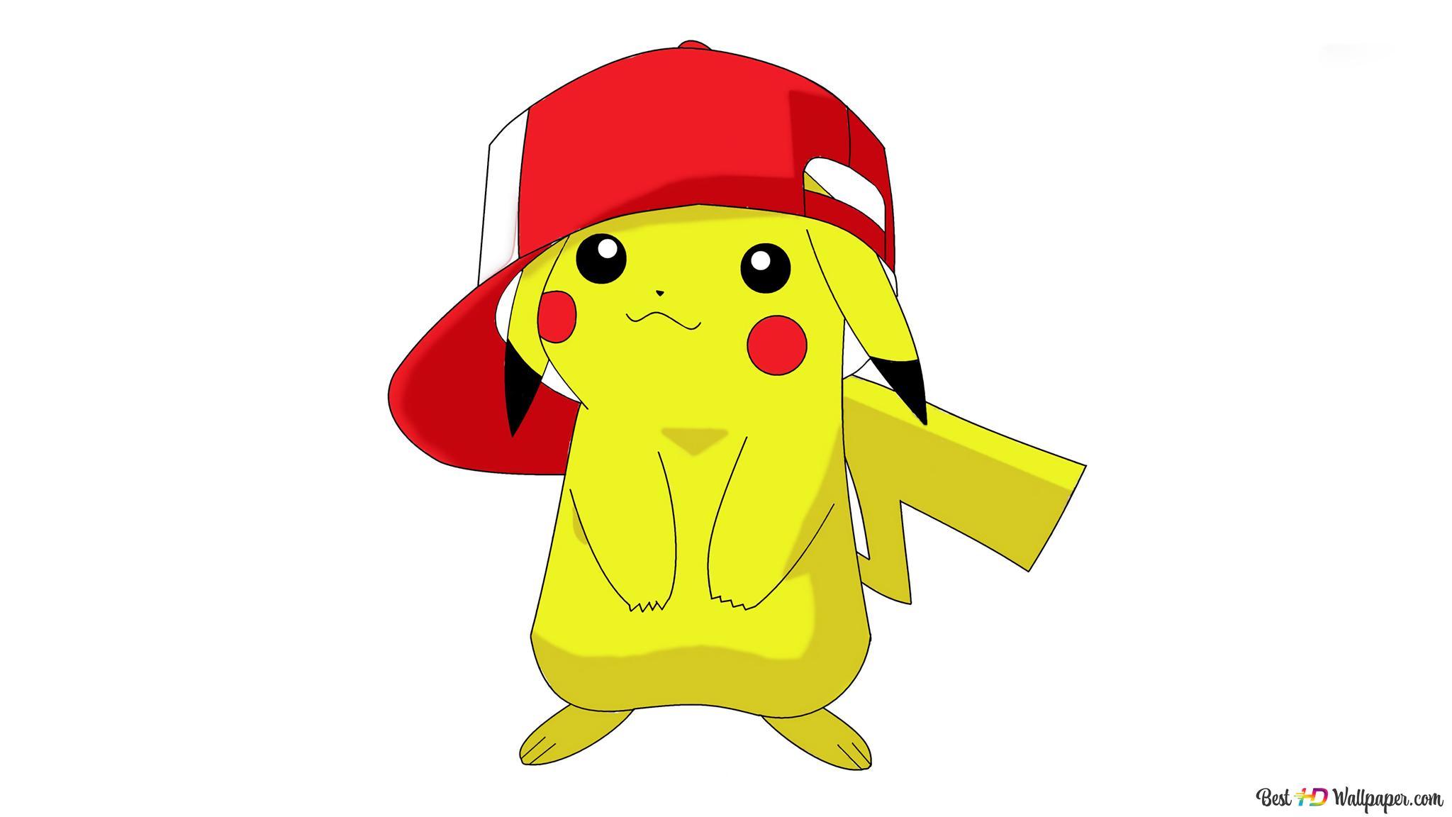 Pikachu avec capuchon rouge HD fond d'écran télécharger