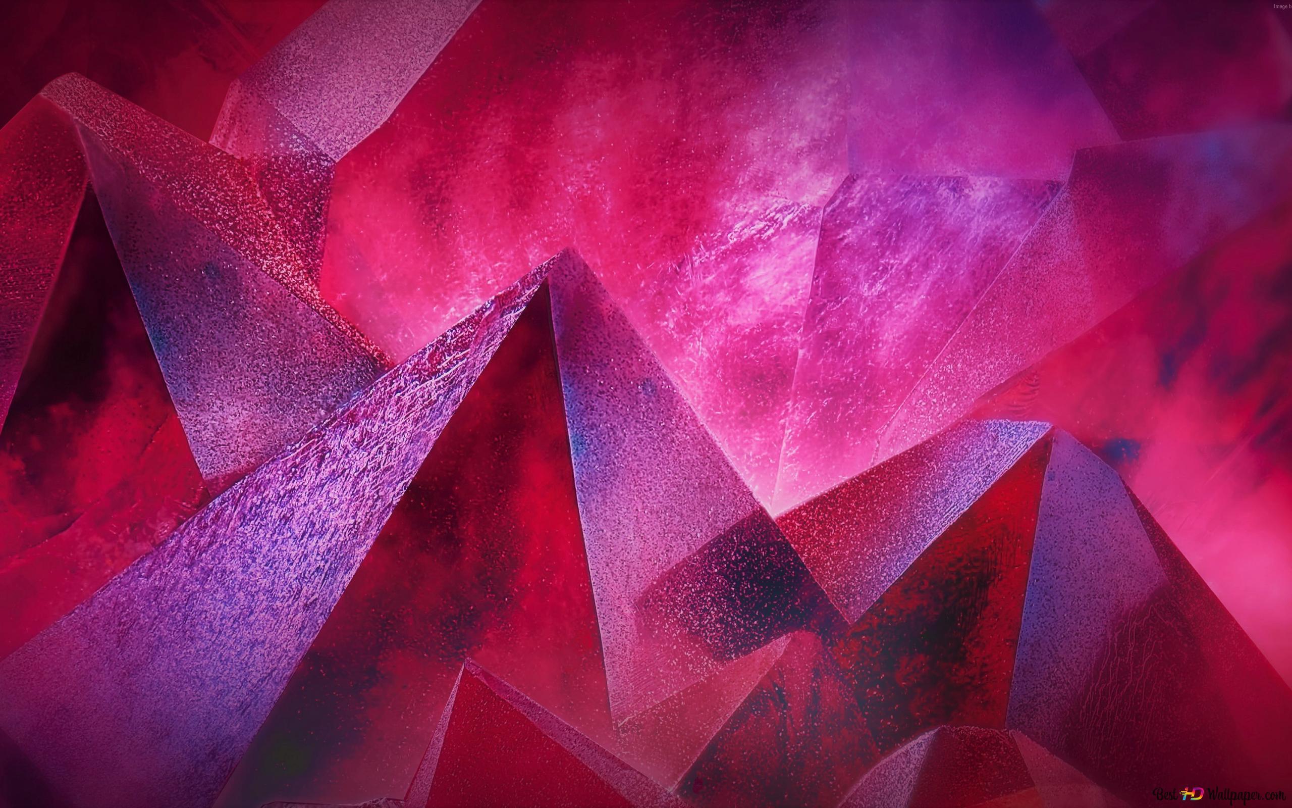 Pink Cyrstal Hd Wallpaper Download