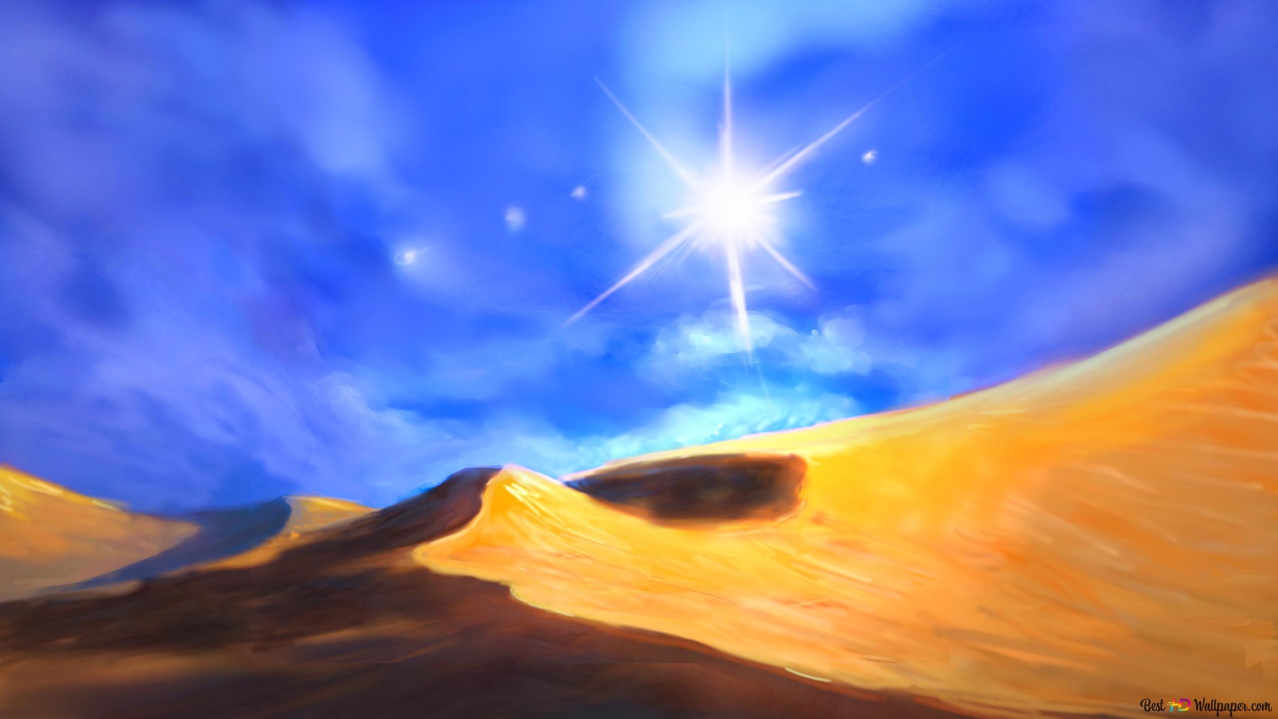 Pittura Artistica Di Un Deserto Download Di Sfondi Hd
