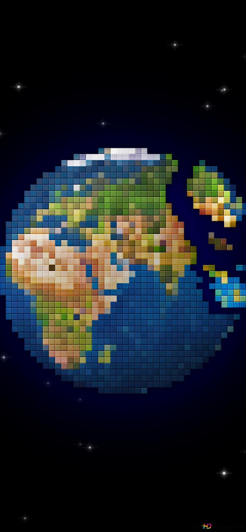 pixelated earth wallpaper 828x1792 29933 218