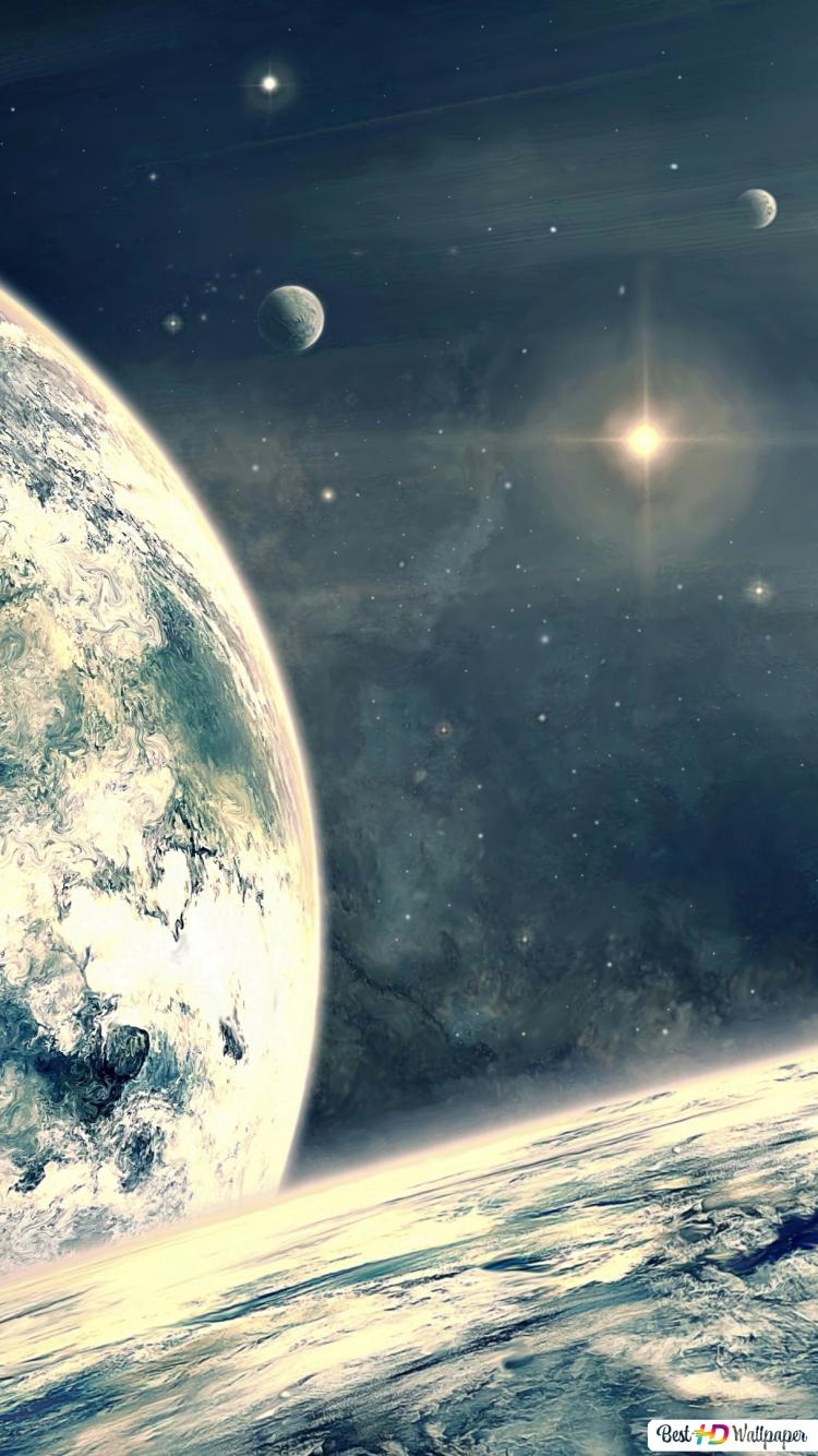 Planet Earth Winter Galaxy Hd Wallpaper Download