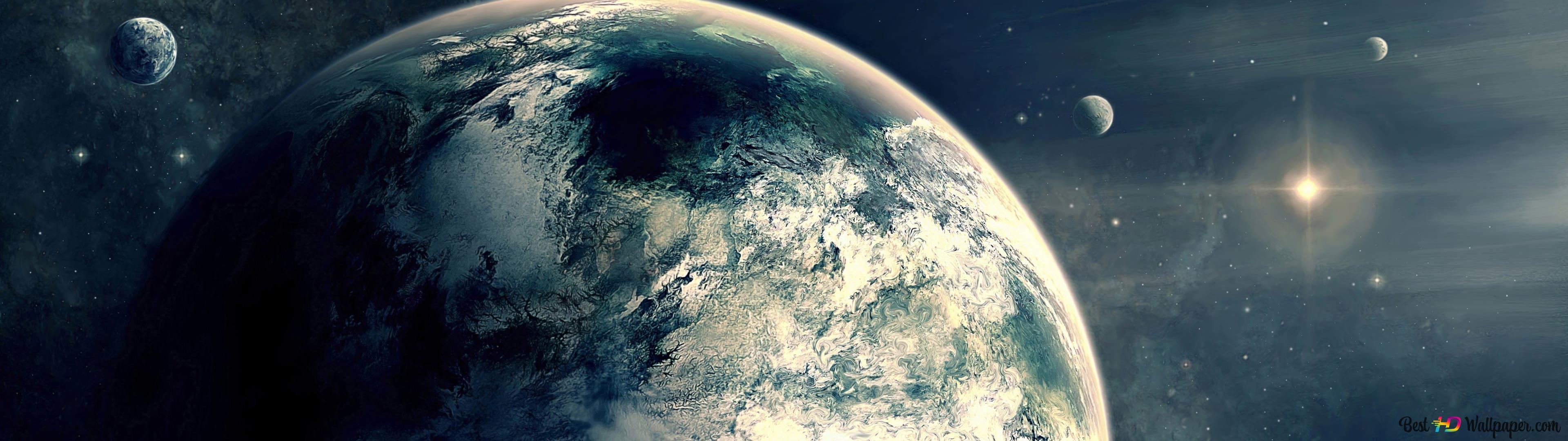 Planete Terre Galaxie Hiver Hd Fond D Ecran Telecharger