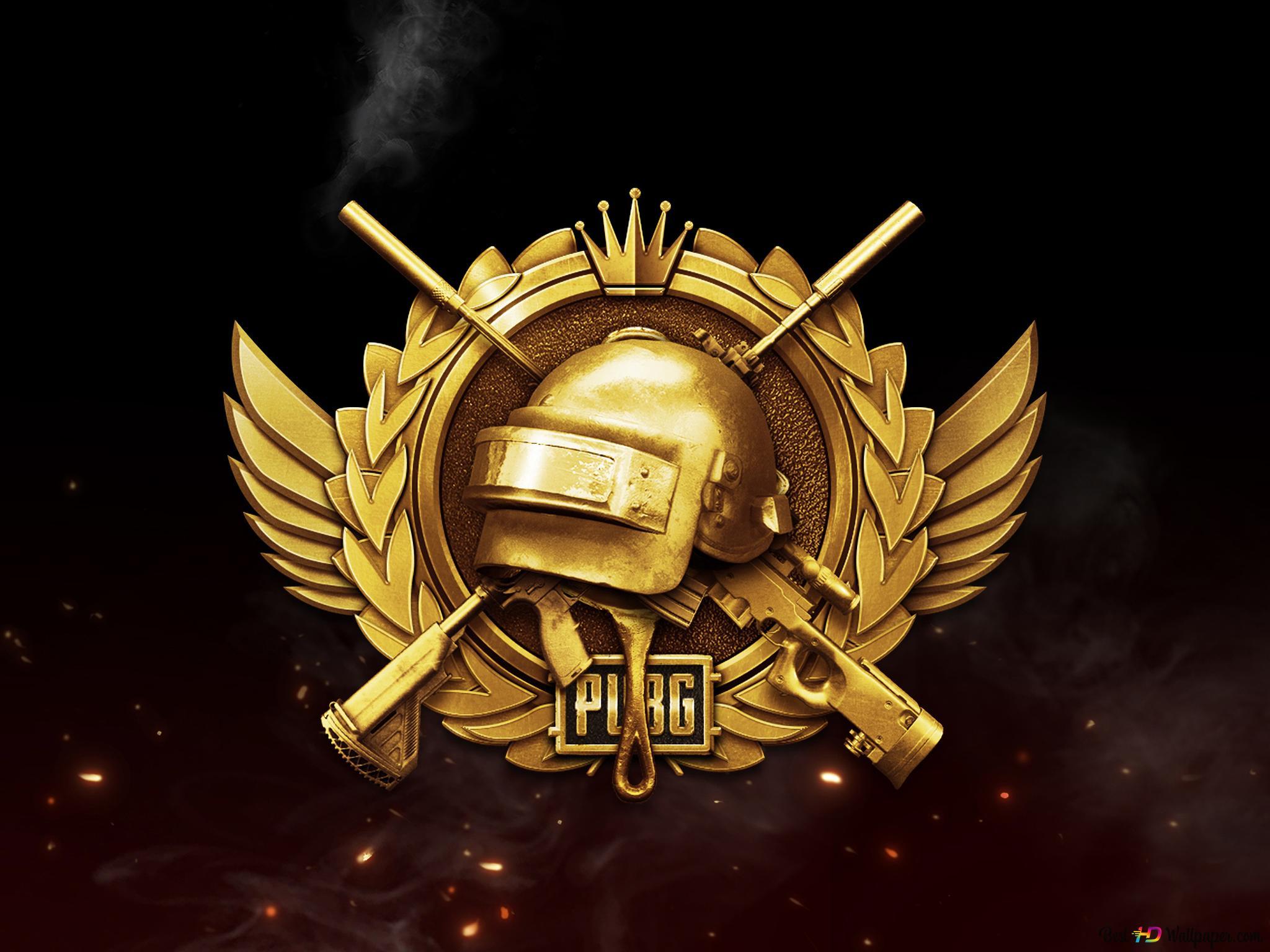 Playerunknown S Battlegrounds Pubg Mobile Golden Badge Logo Hd