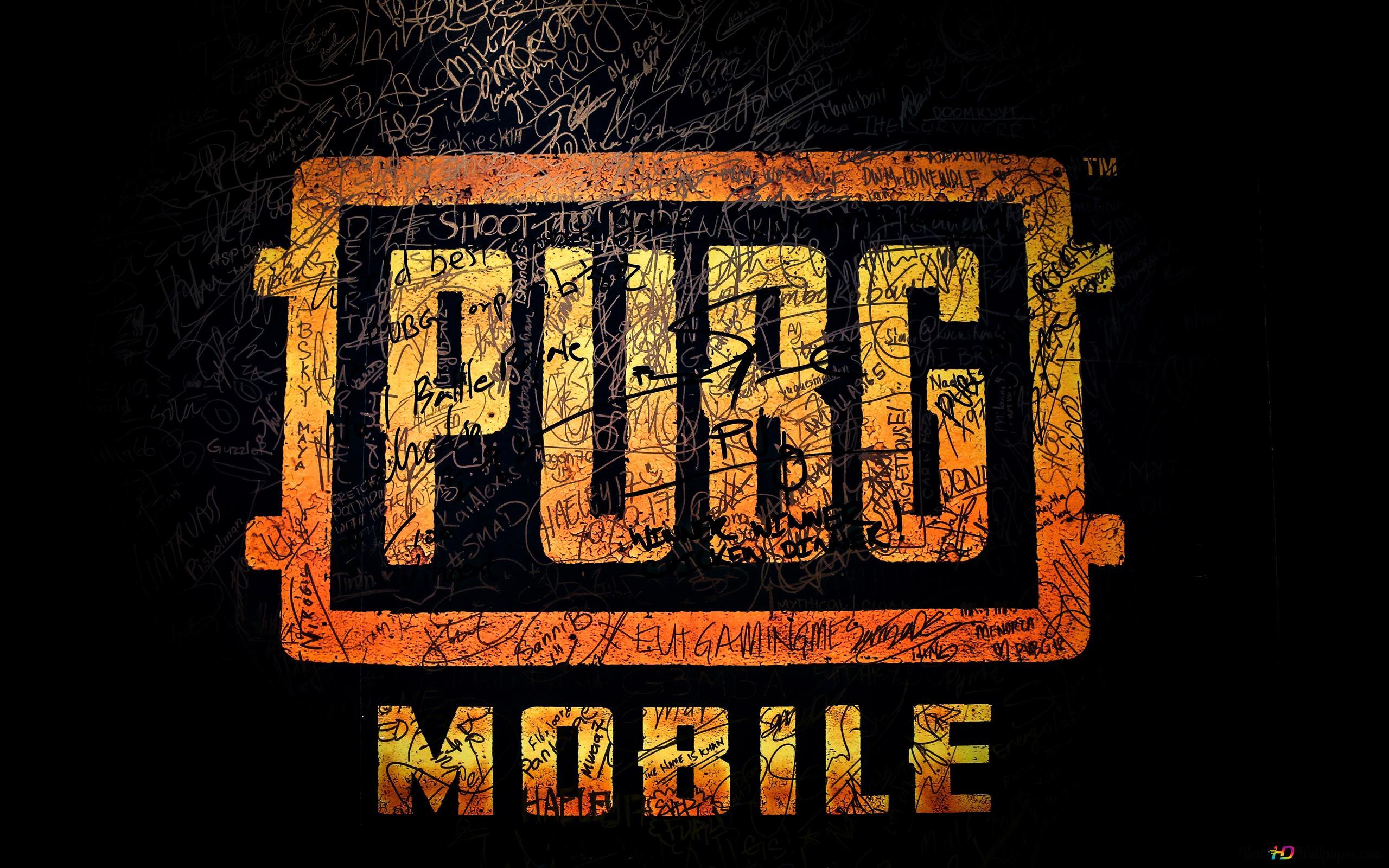 Playerunknown S Battlegrounds Pubg Mobile Logo Hd Wallpaper Download