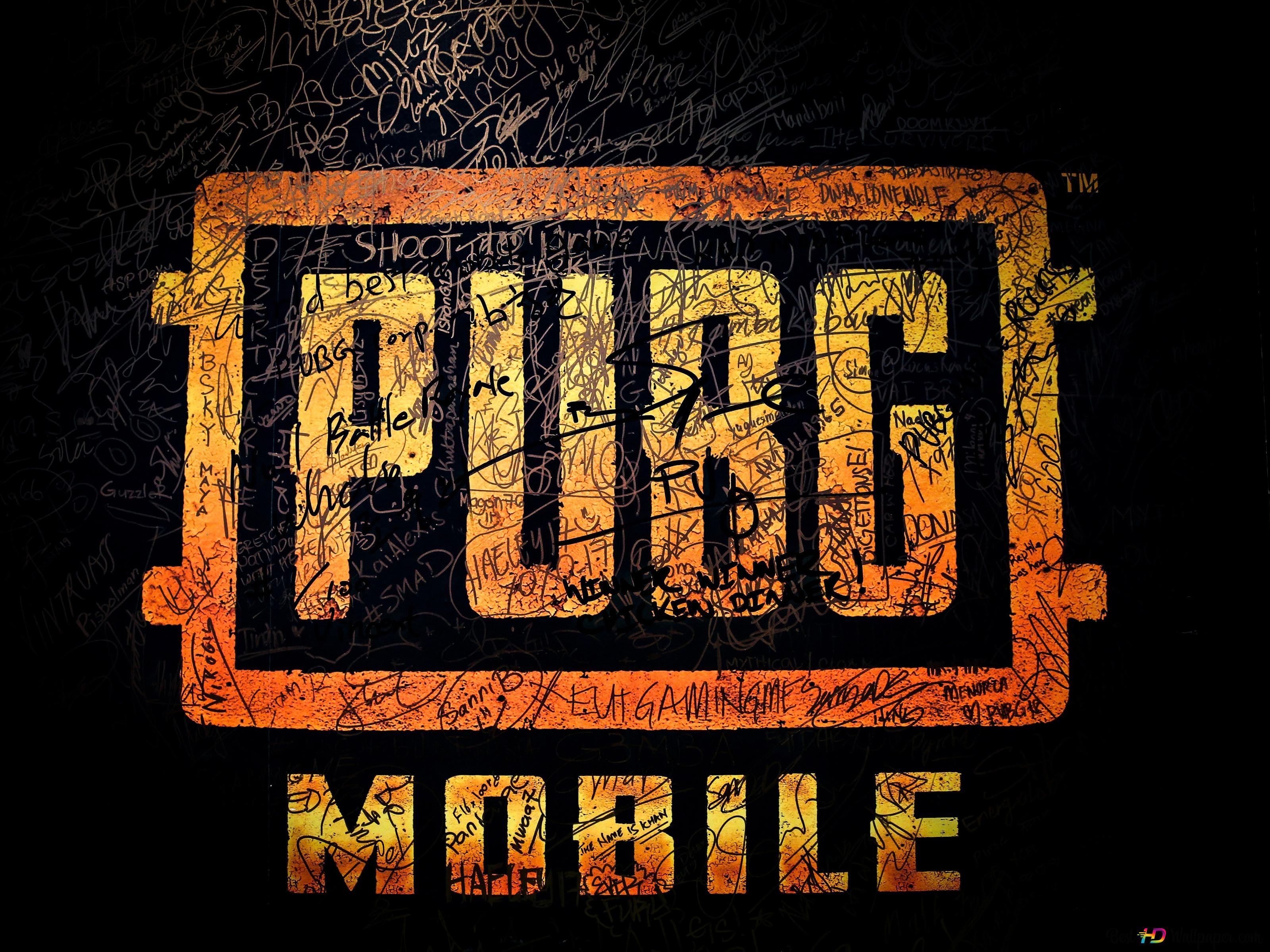 Playerunknown S Battlegrounds Pubg Mobile Logo Hd Wallpaper