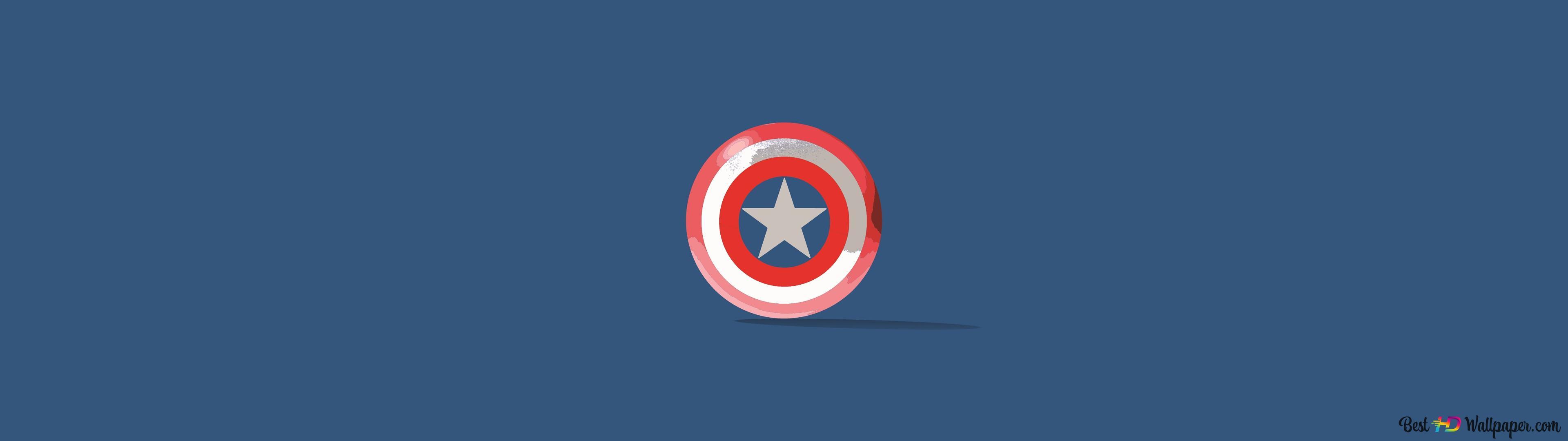 Poder Escudo Do Capitao America Hd Wallpaper Download