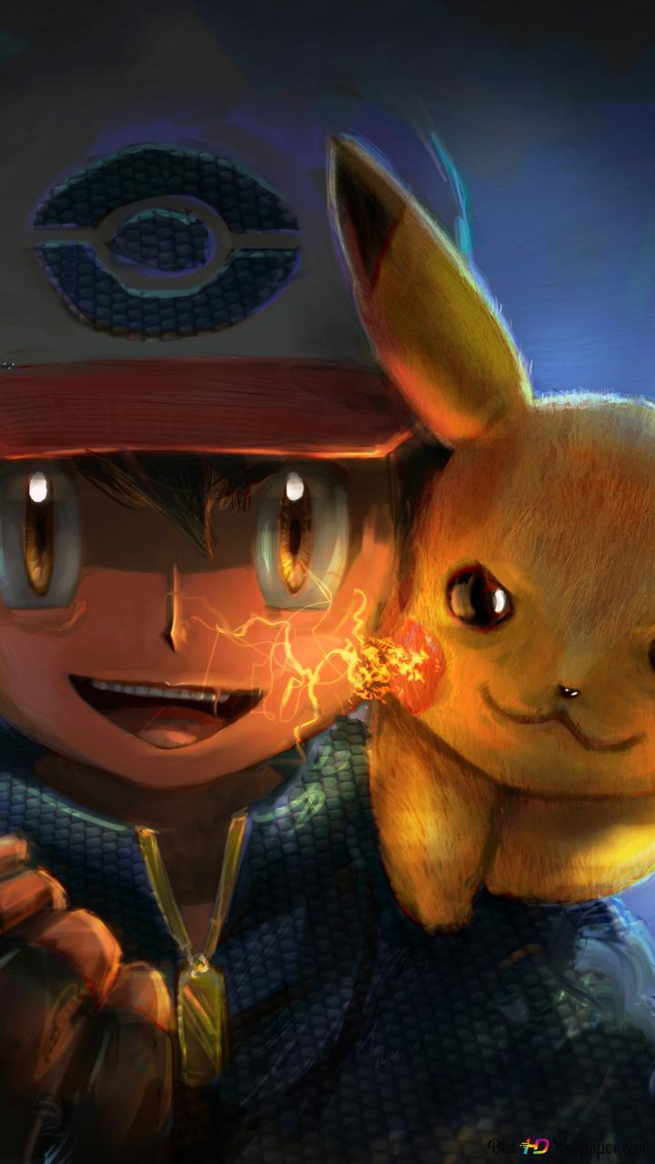 Pokemon Ash Ketchum Pikachu Hd Wallpaper Download