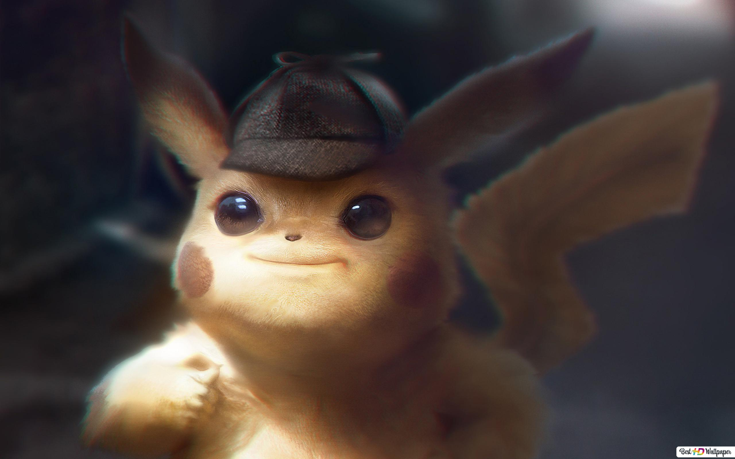 pokemon detective pikachu cute wallpaper