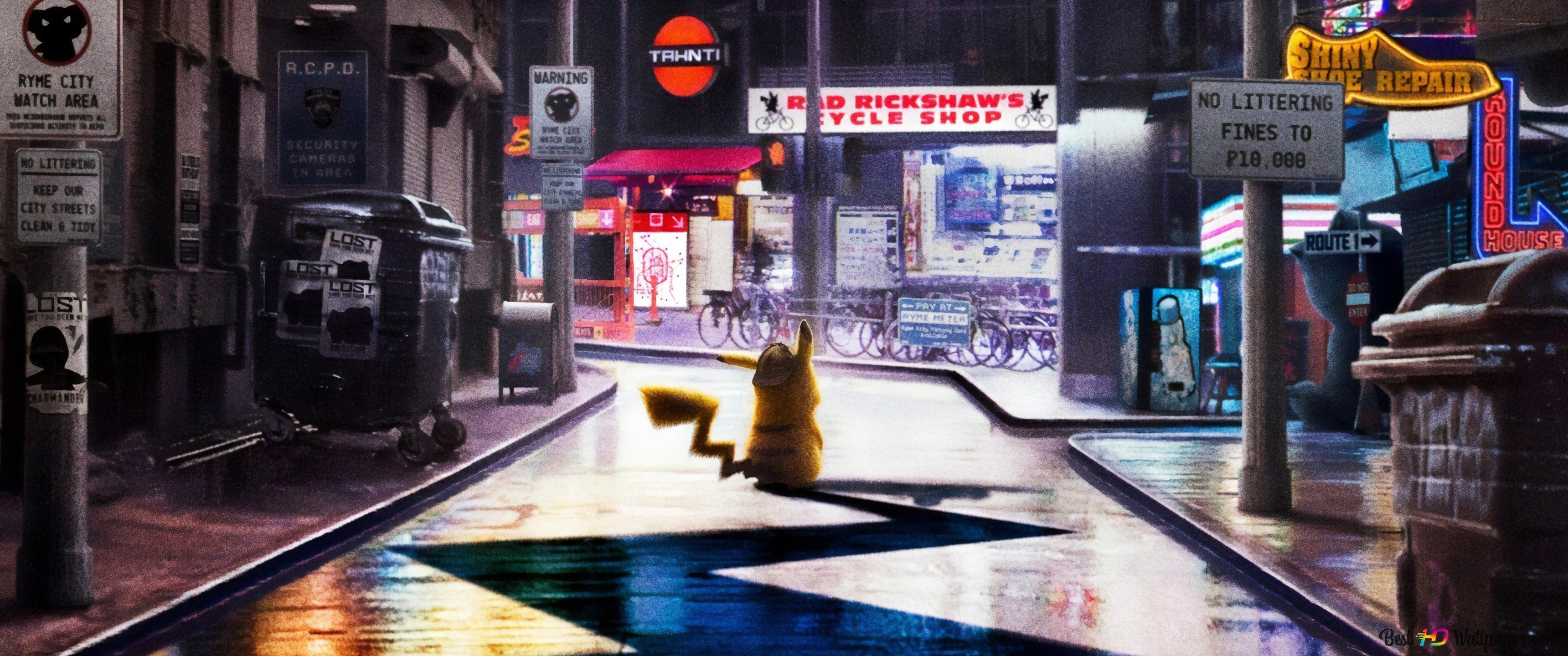 Descargar Fondo De Pantalla Pokemon Detective Pikachu Hd