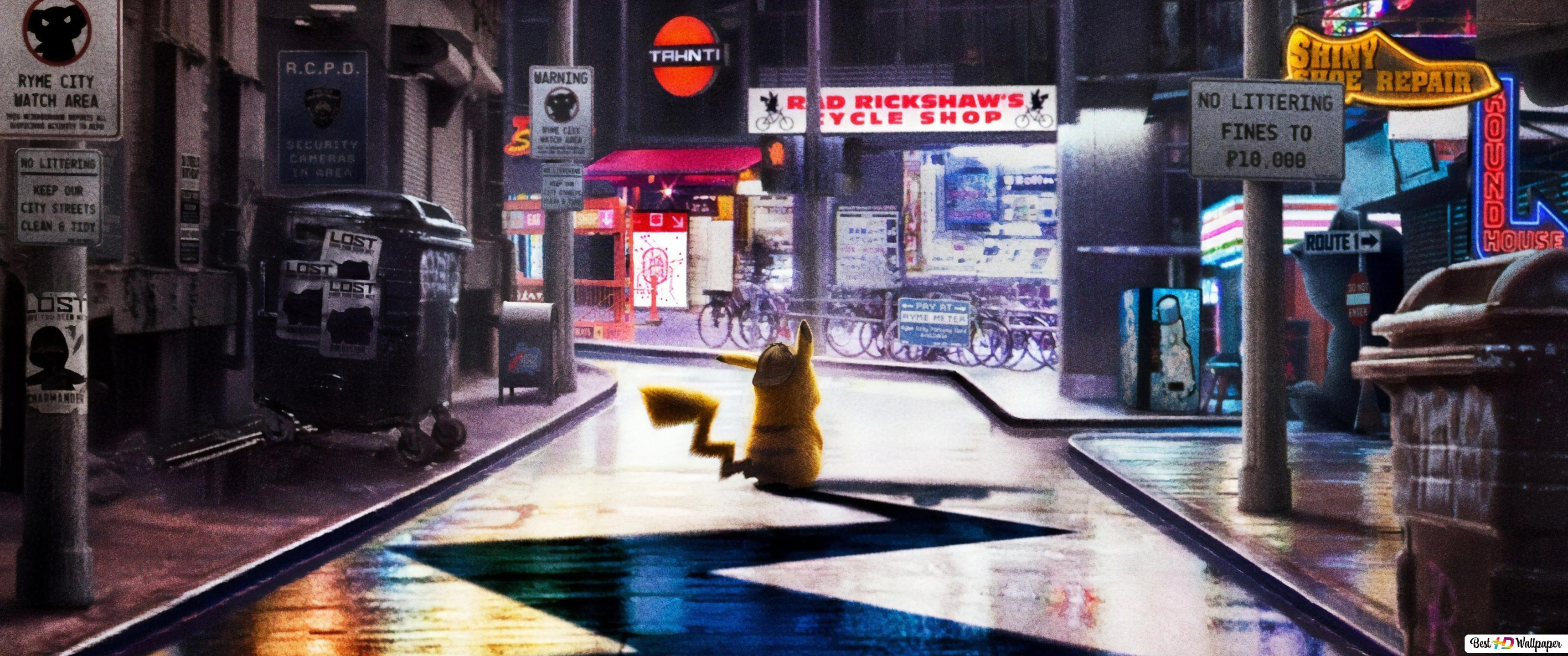 Pokémon Detective Pikachu Hd Wallpaper Download