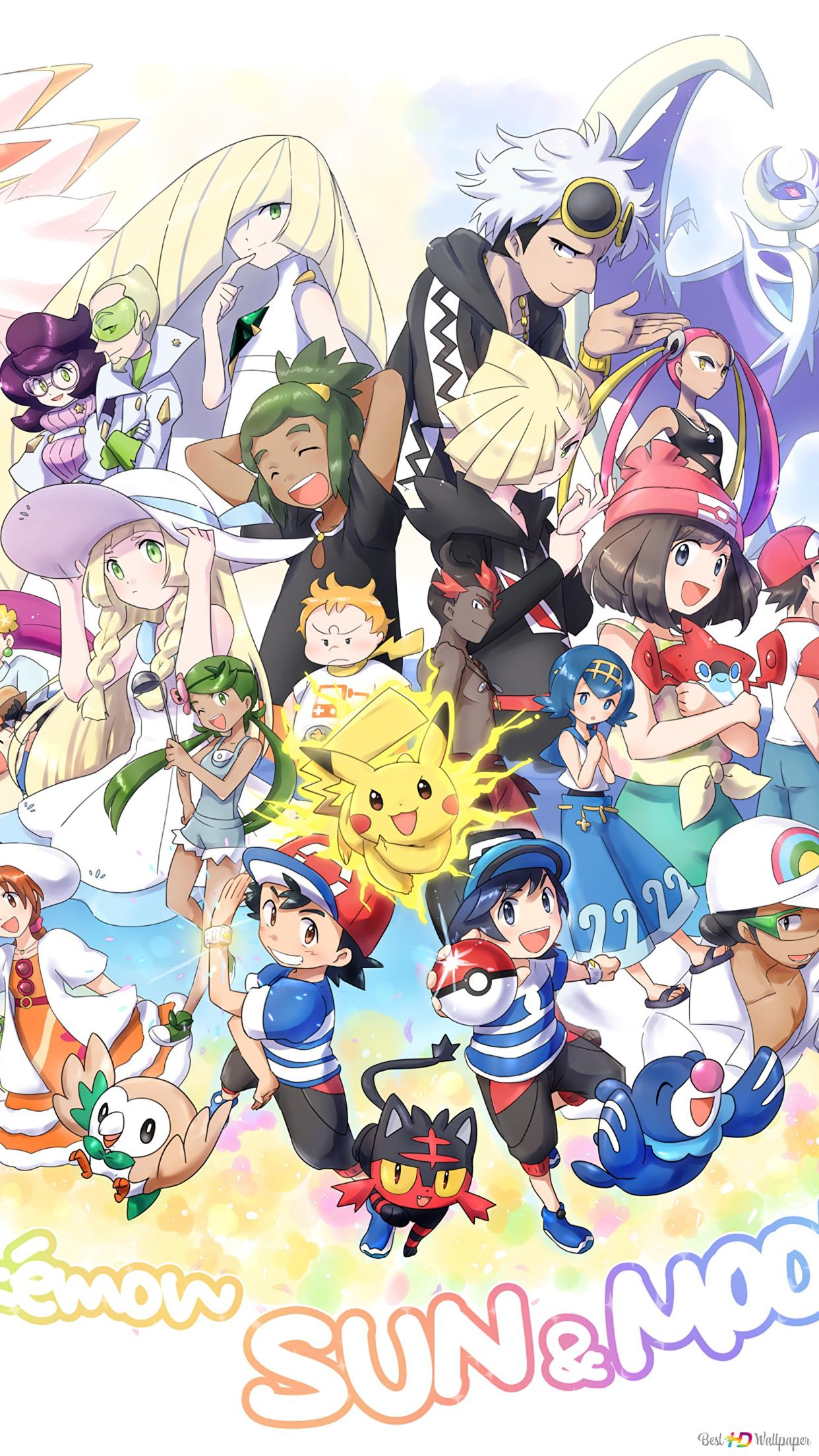 Pokemon Sun And Moon Video Game Hd Wallpaper Download