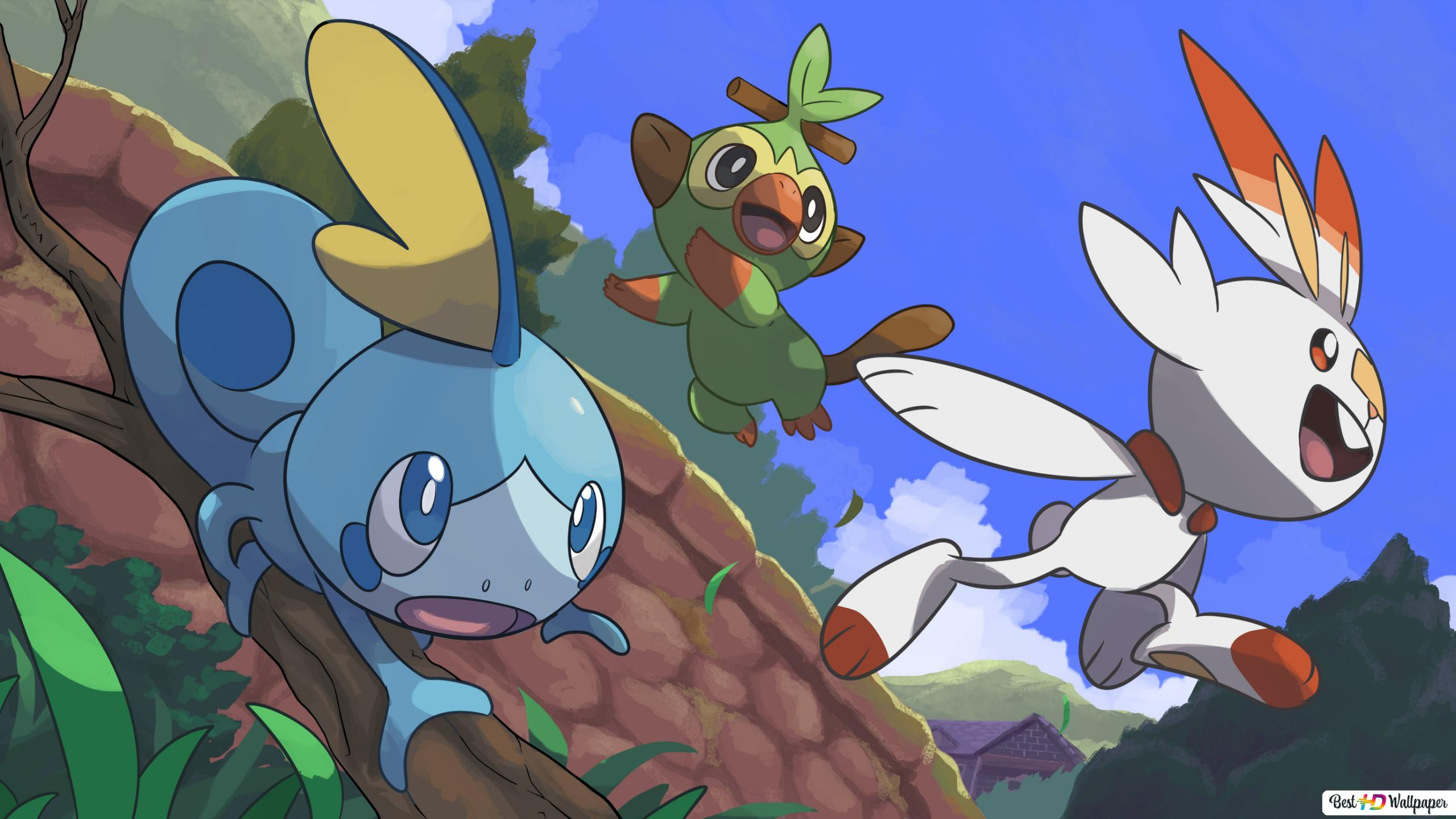 Pokemon Sword And Shield Sobble Grookey Scorbunny Hd Wallpaper Download Download all cool wallpapers and use them even for commercial projects. pokemon sword and shield sobble