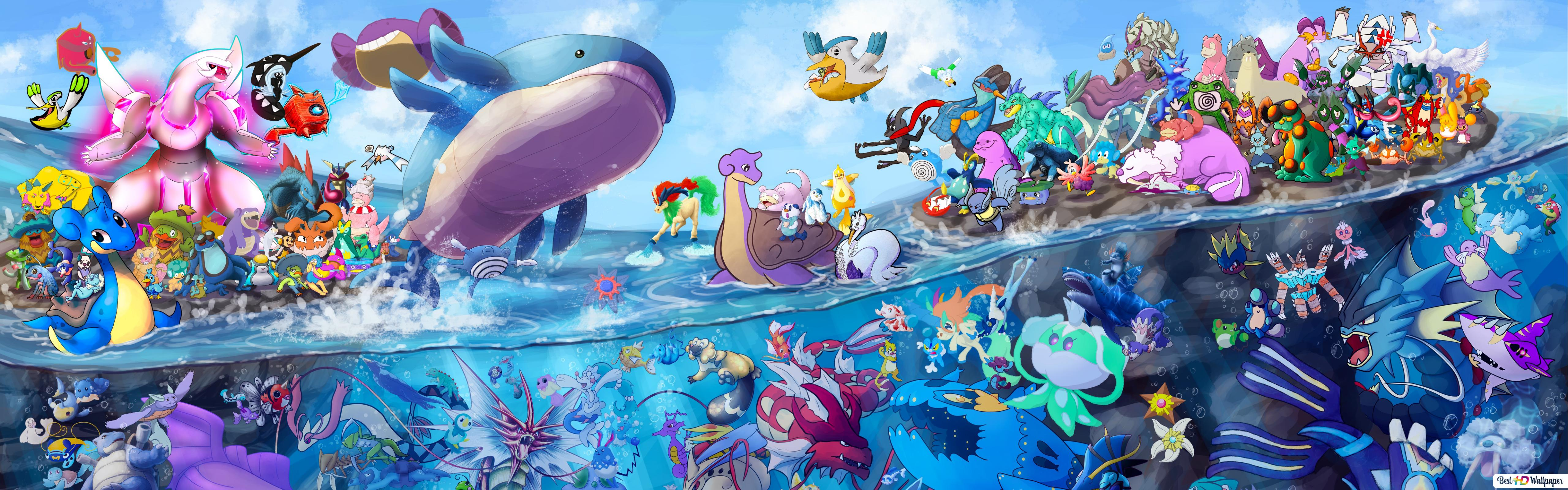 Pokemons All Around Hd Wallpaper Download