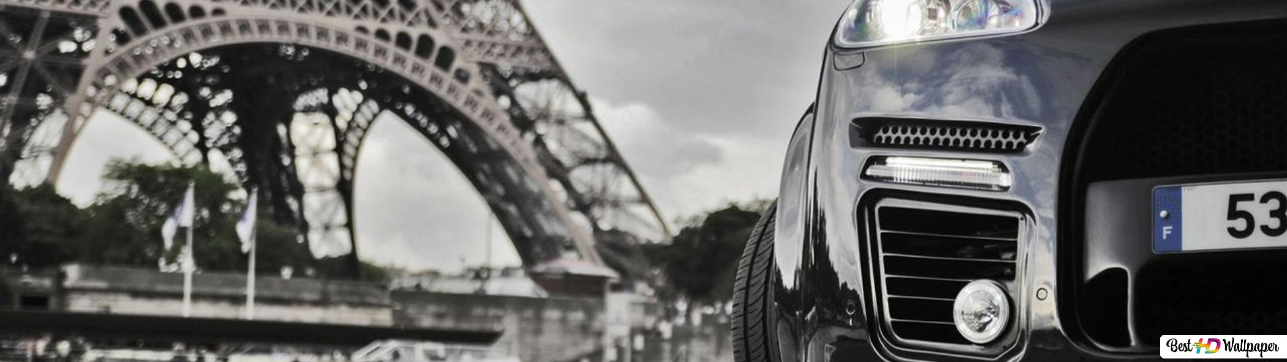 Porsche Cayenne At Eiffel Tower Hd Wallpaper Download