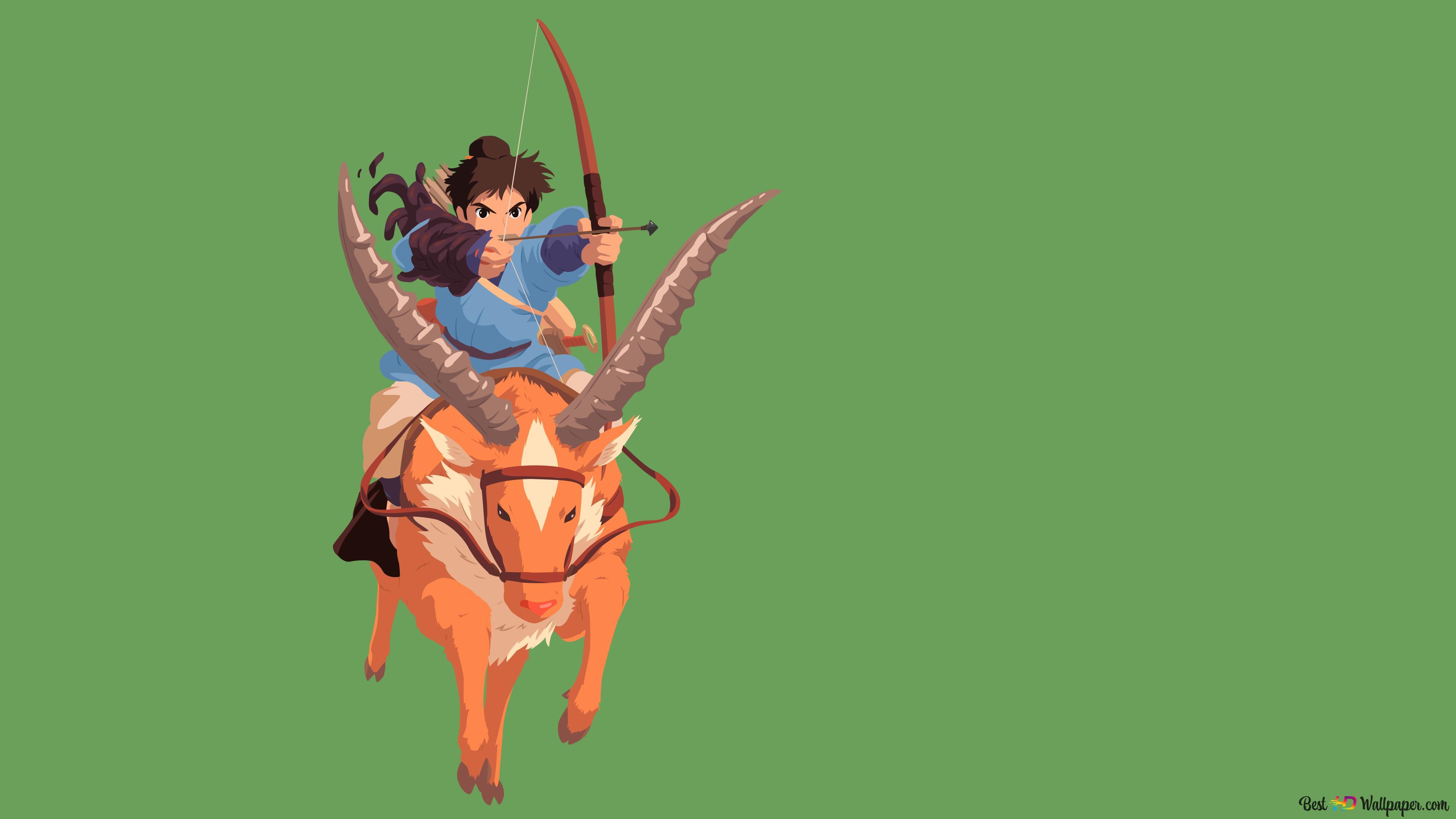 Princess Mononoke Ashitaka Hd Wallpaper Download