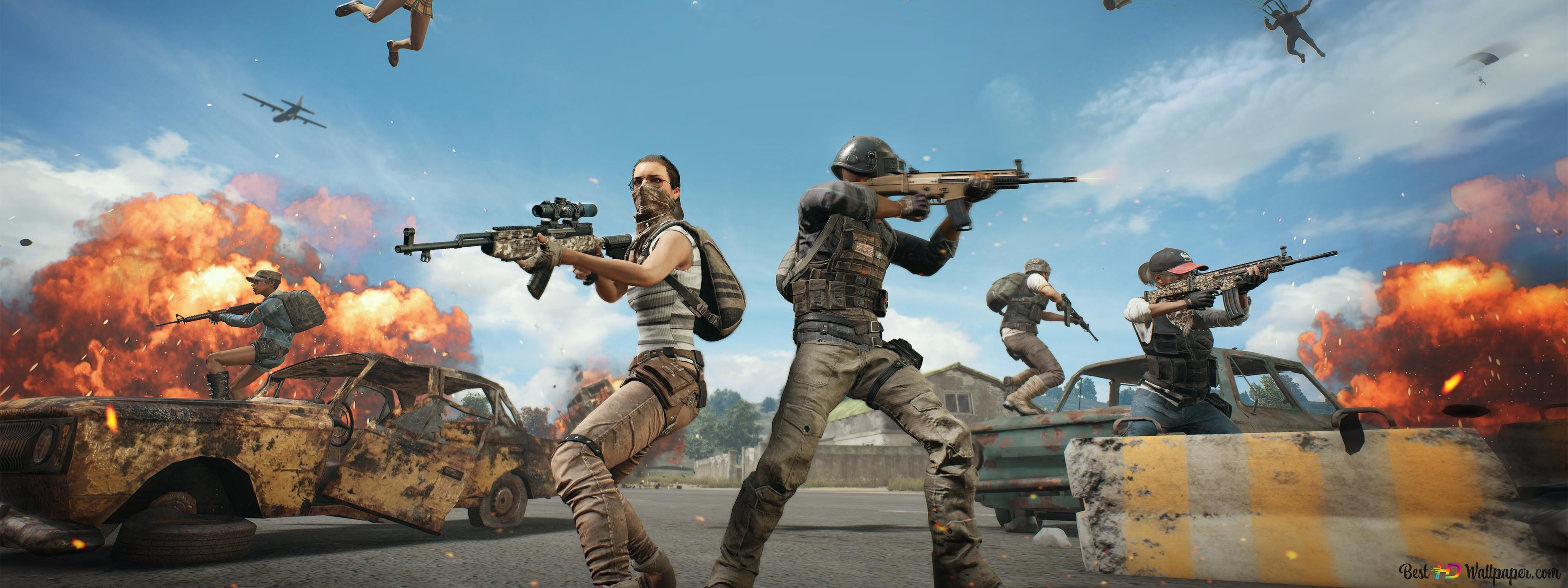 Pubg Playerunknown S Battlegrounds Team Conflict Hd Wallpaper