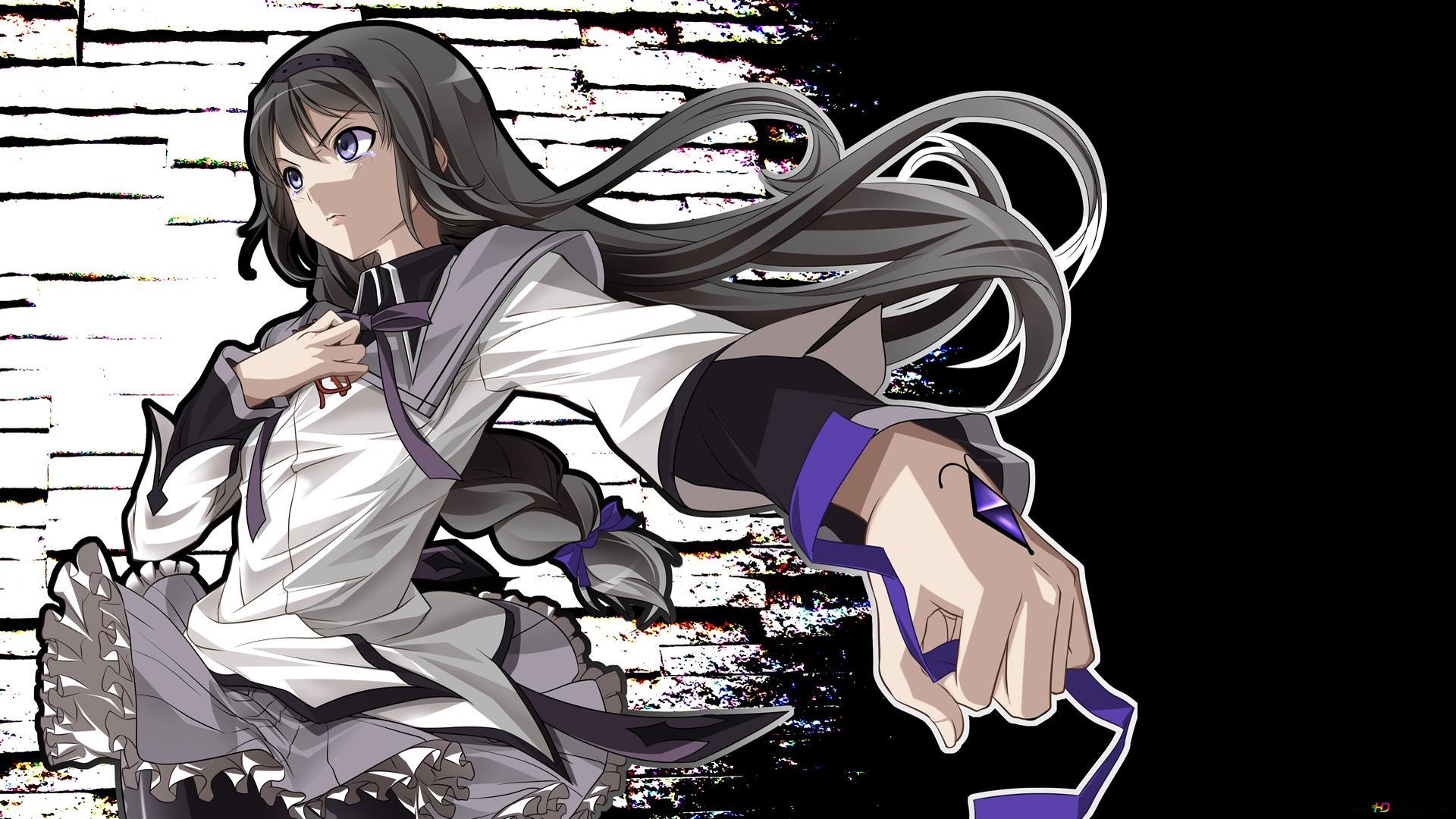 Puella Magi Madoka Magica Homura Akemi Hd Wallpaper Download