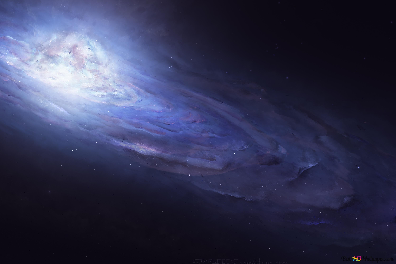 Purple Galaxy Hd Wallpaper Download
