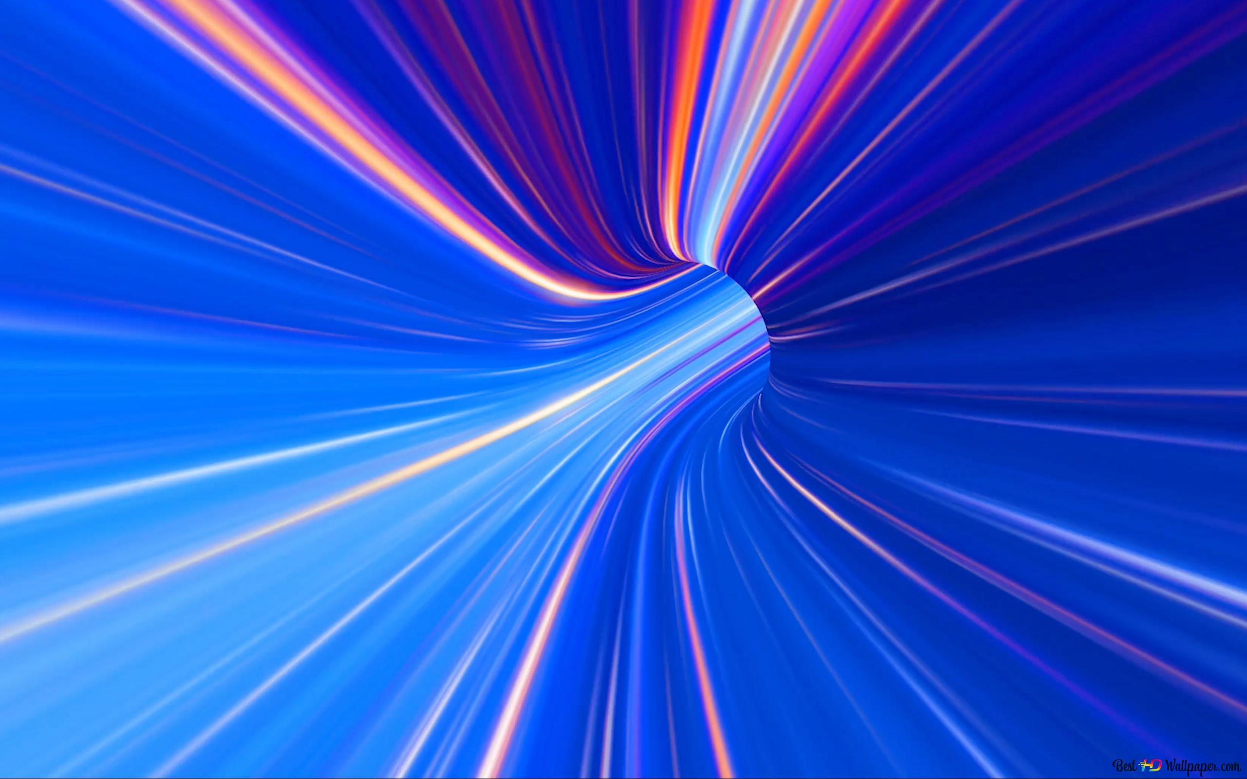 青色スペクトルトンネル Hd壁紙のダウンロード