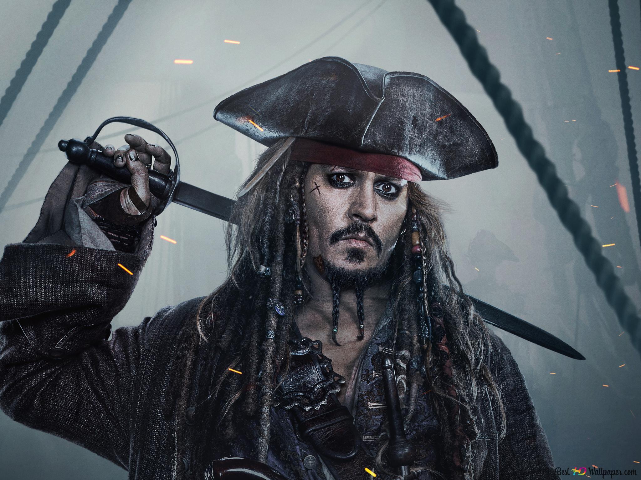 قراصنة الكاريبي V - الكابتن جاك سبارو تنزيل خلفية HD