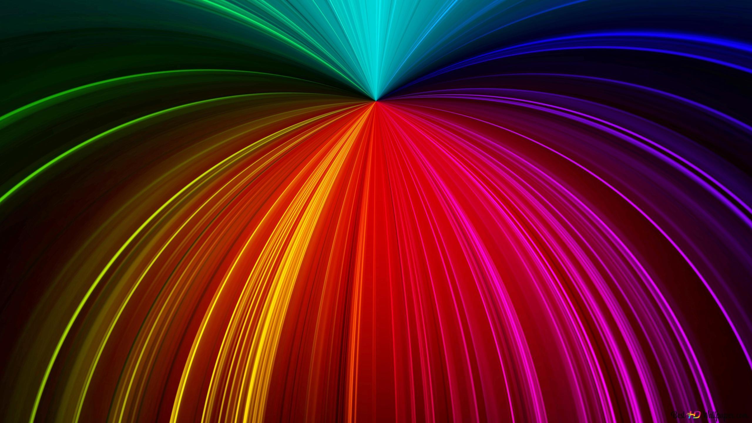Rainbow Umbrella Hd Wallpaper Download
