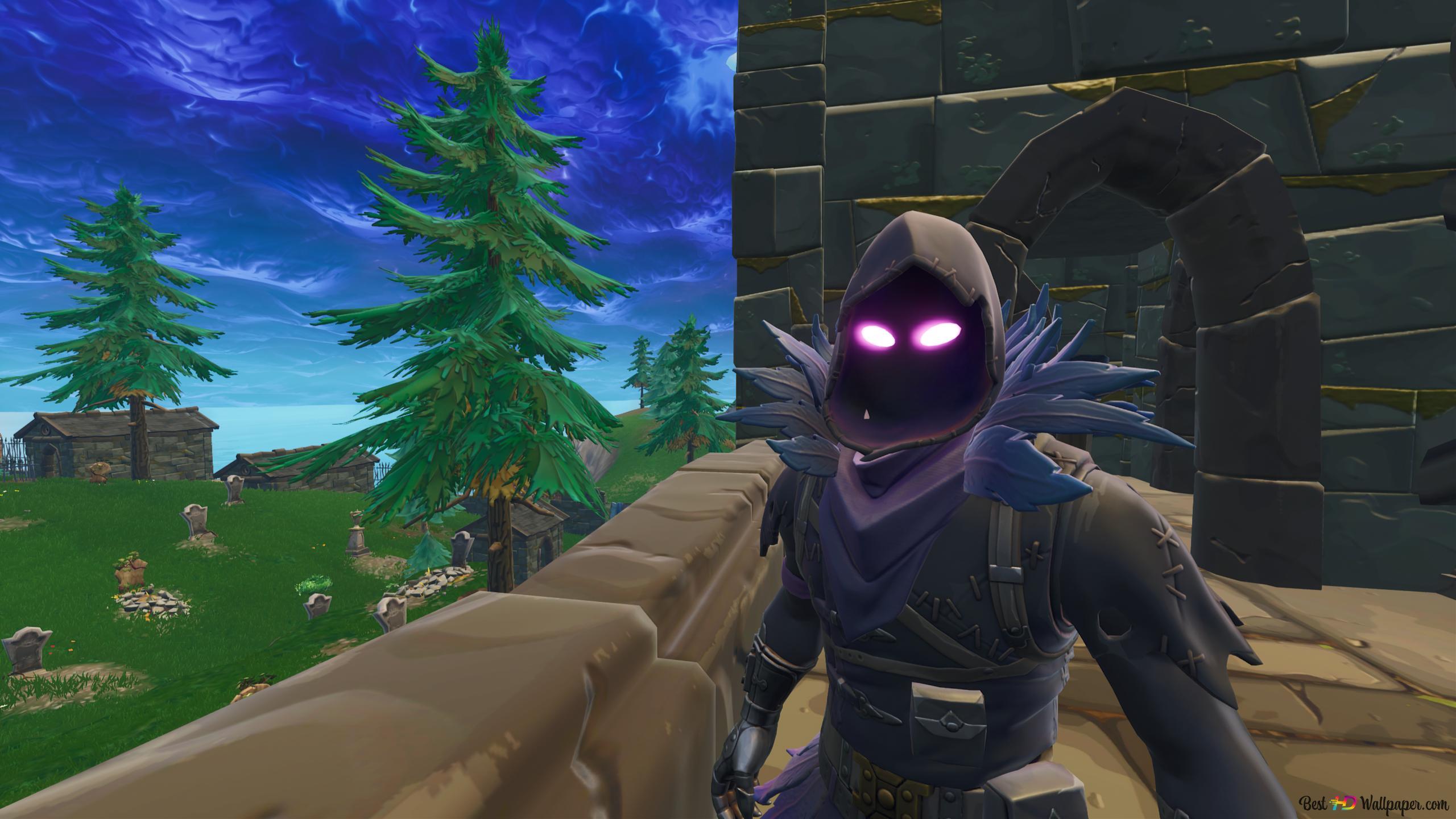 Raven Fortnite Battle Royale Hd Wallpaper Download